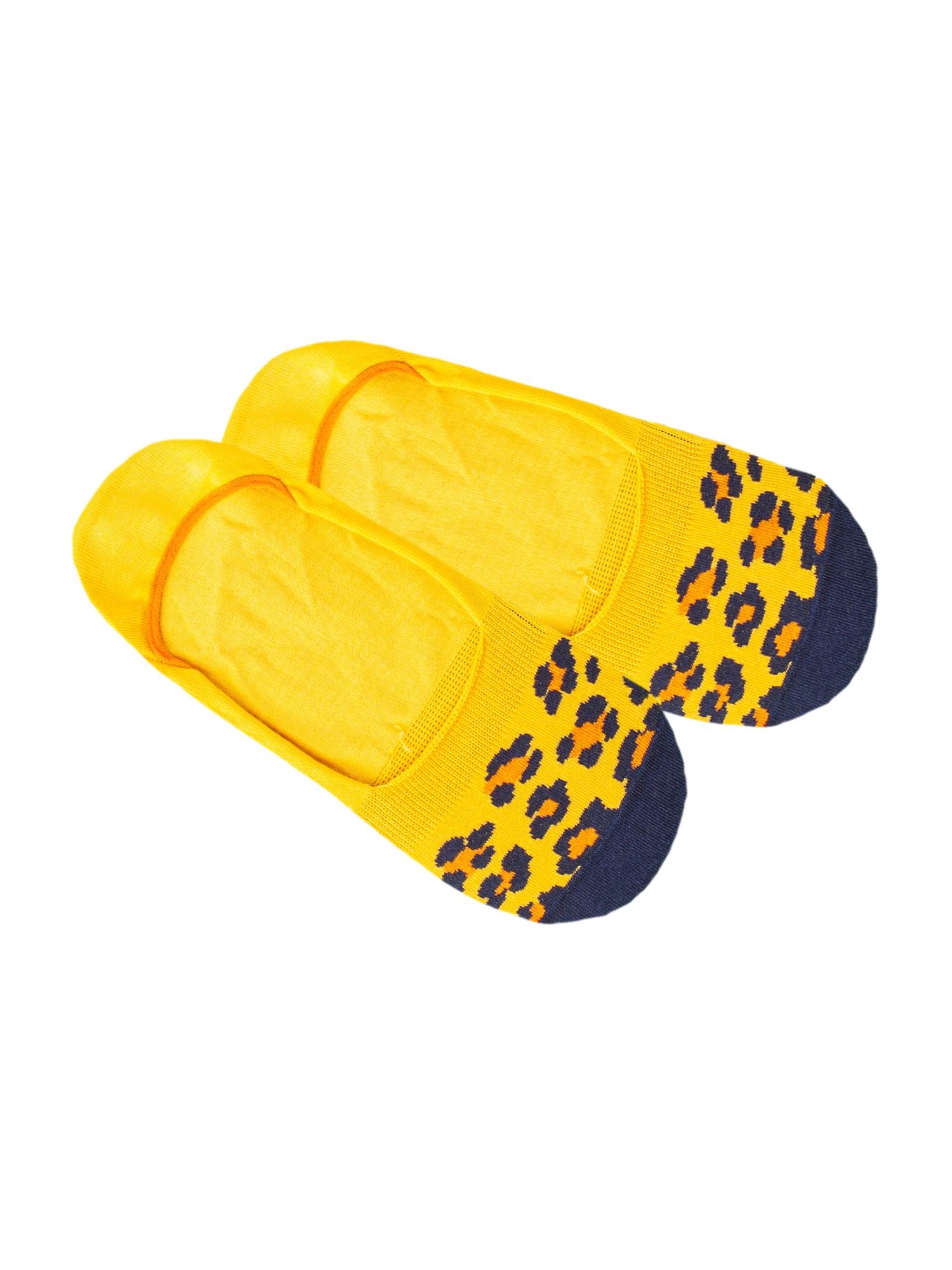 DillySocks Ťapky 'IN20-09 Hidden Cheetah'  modrá / žlutá / oranžová