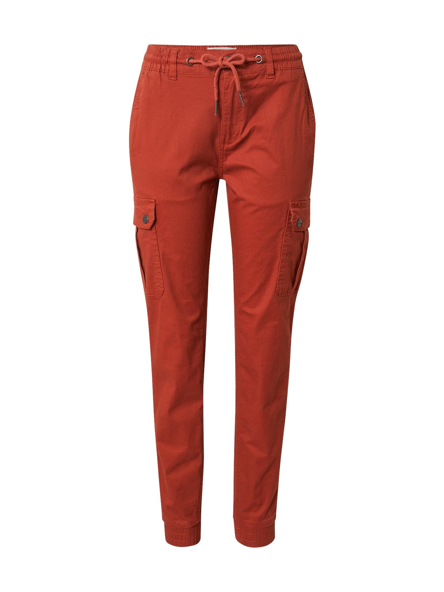 Eight2Nine Laisvo stiliaus kelnės tamsiai oranžinė