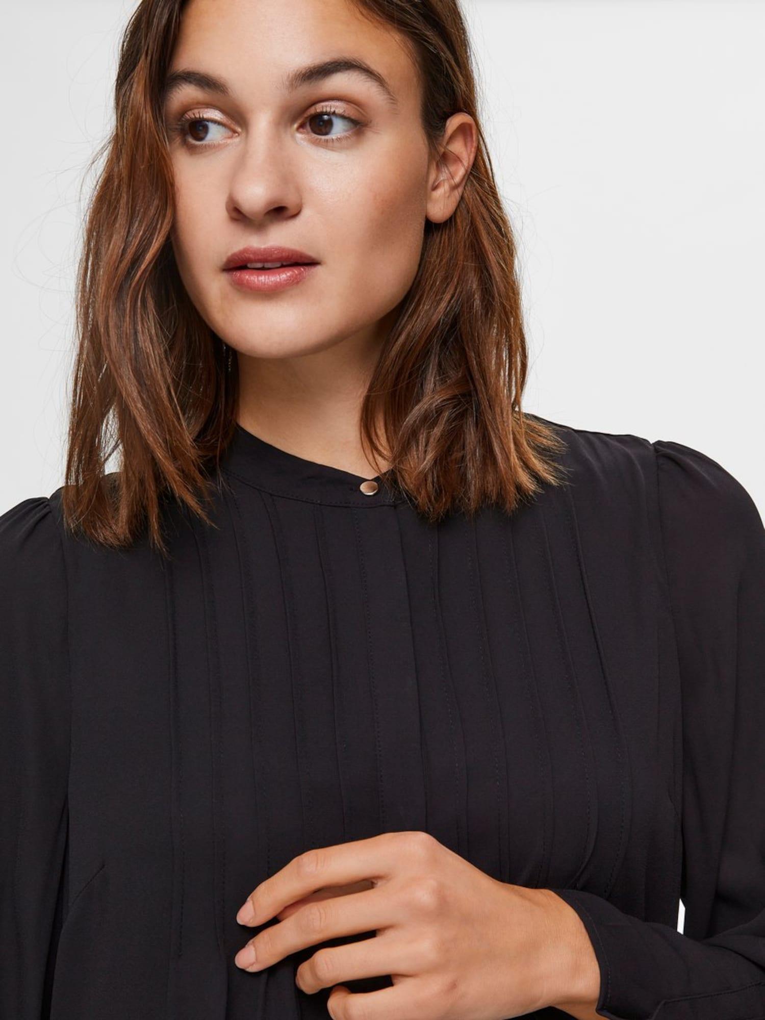 SELECTED FEMME Košeľové šaty  čierna.