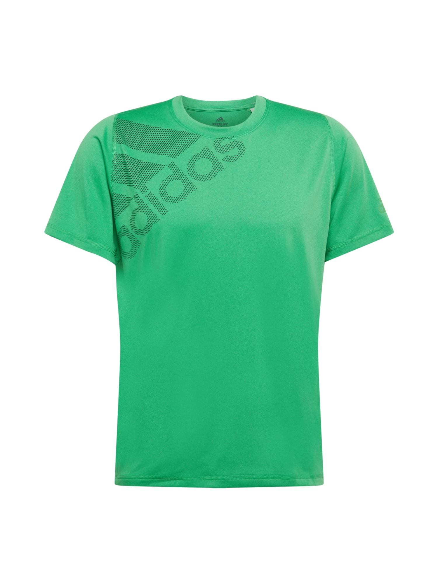 ADIDAS PERFORMANCE Funkční tričko  zelená / tmavě šedá