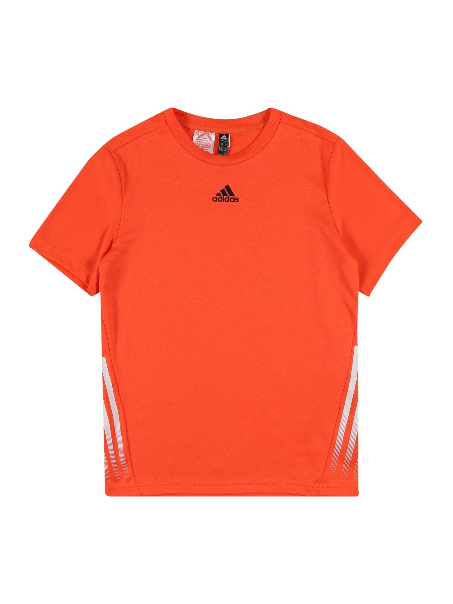 ADIDAS PERFORMANCE Sportiniai marškinėliai oranžinė / balta / juoda