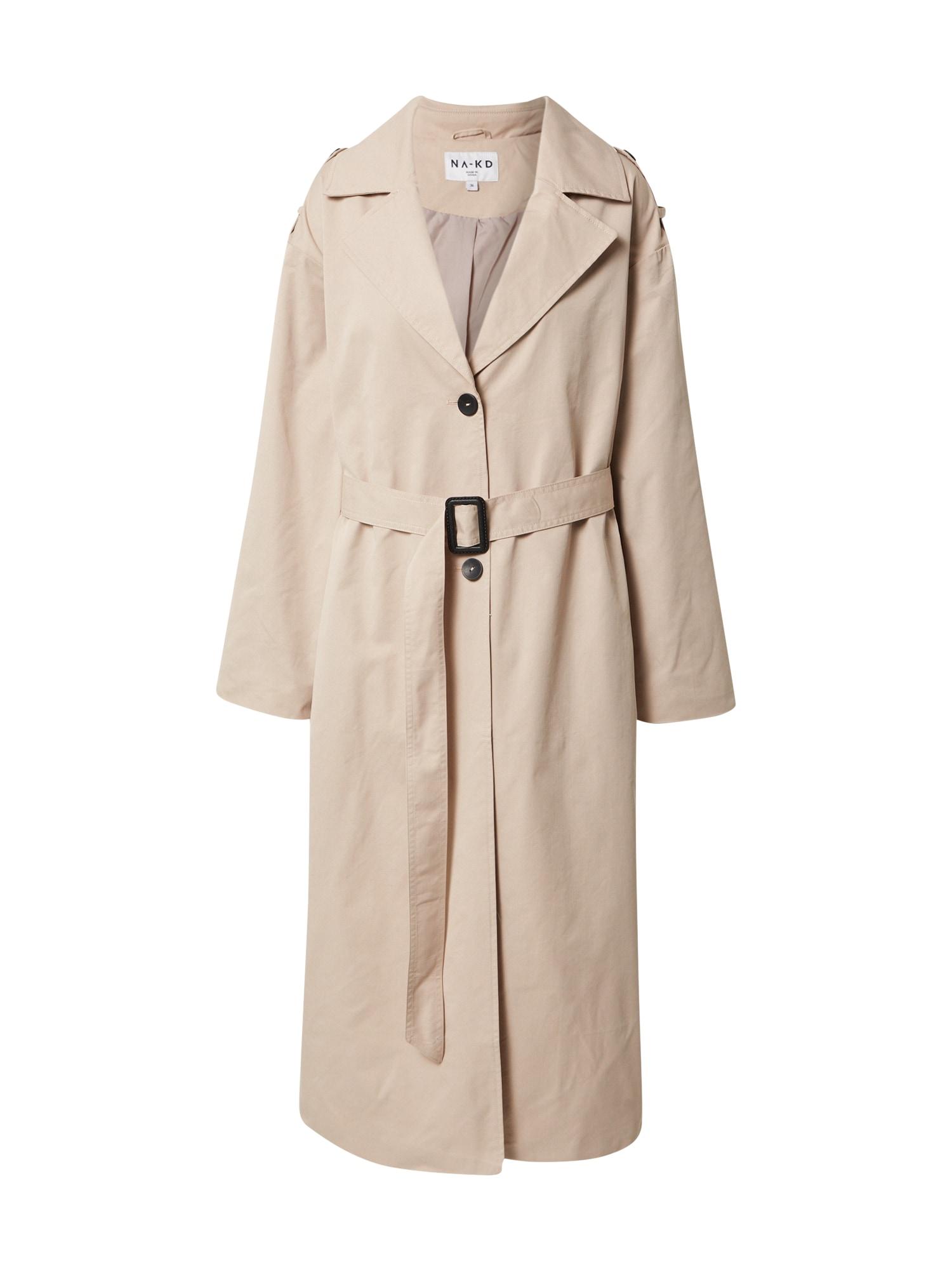 NA-KD Demisezoninis paltas 'Pelican Bay' smėlio spalva