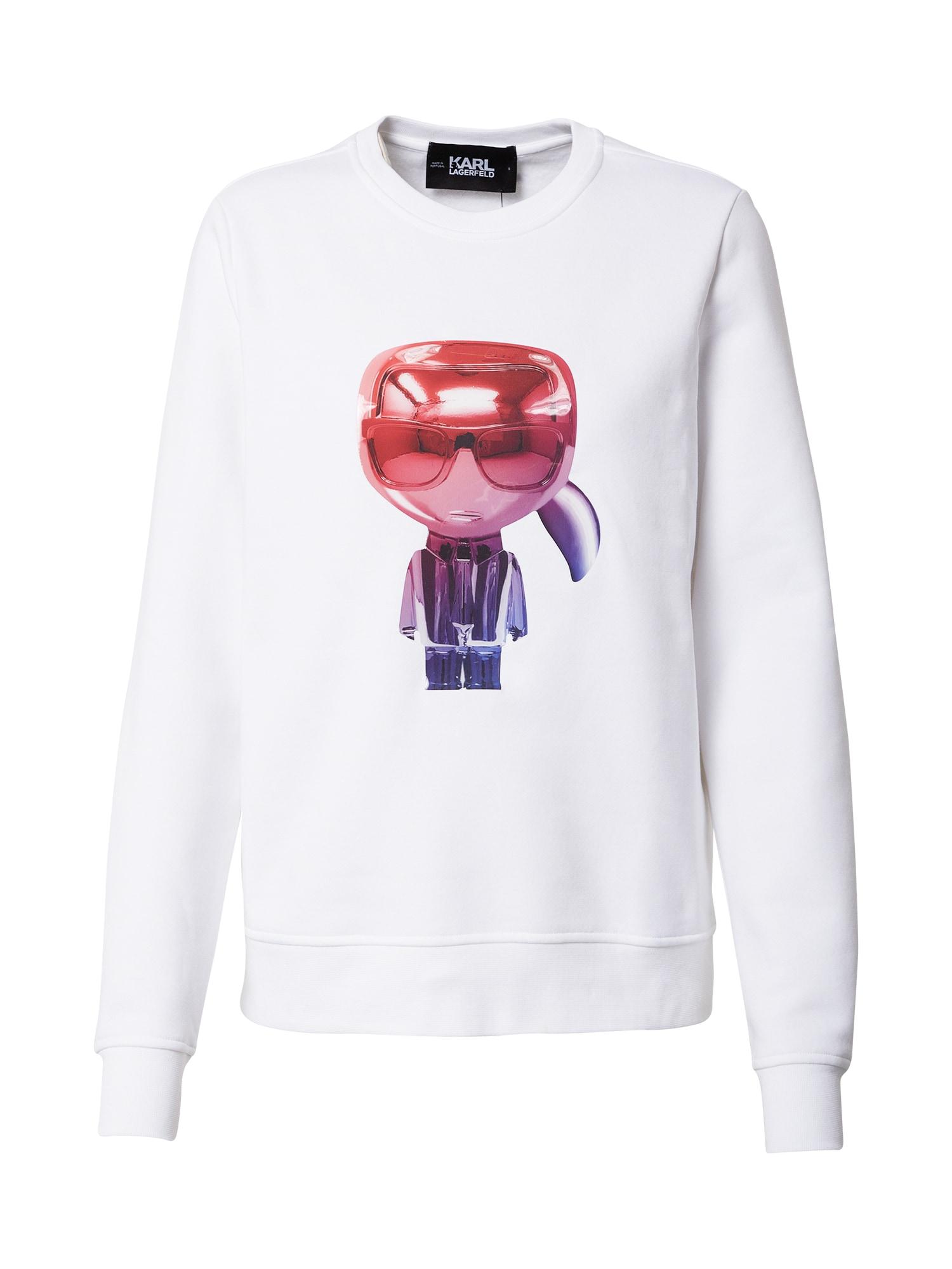 Karl Lagerfeld Megztinis be užsegimo balta / mišrios spalvos