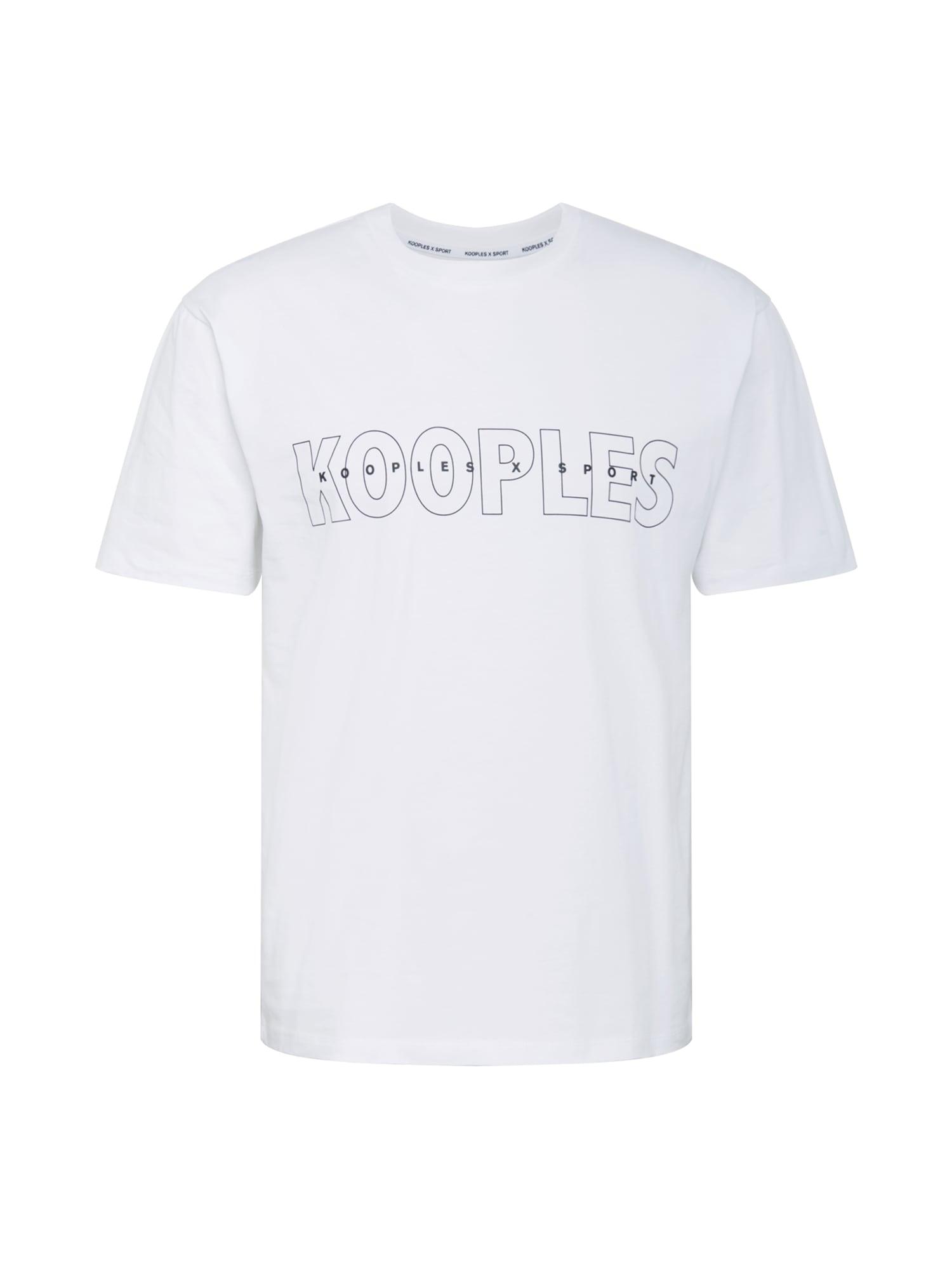 THE KOOPLES SPORT Marškinėliai balta / juoda