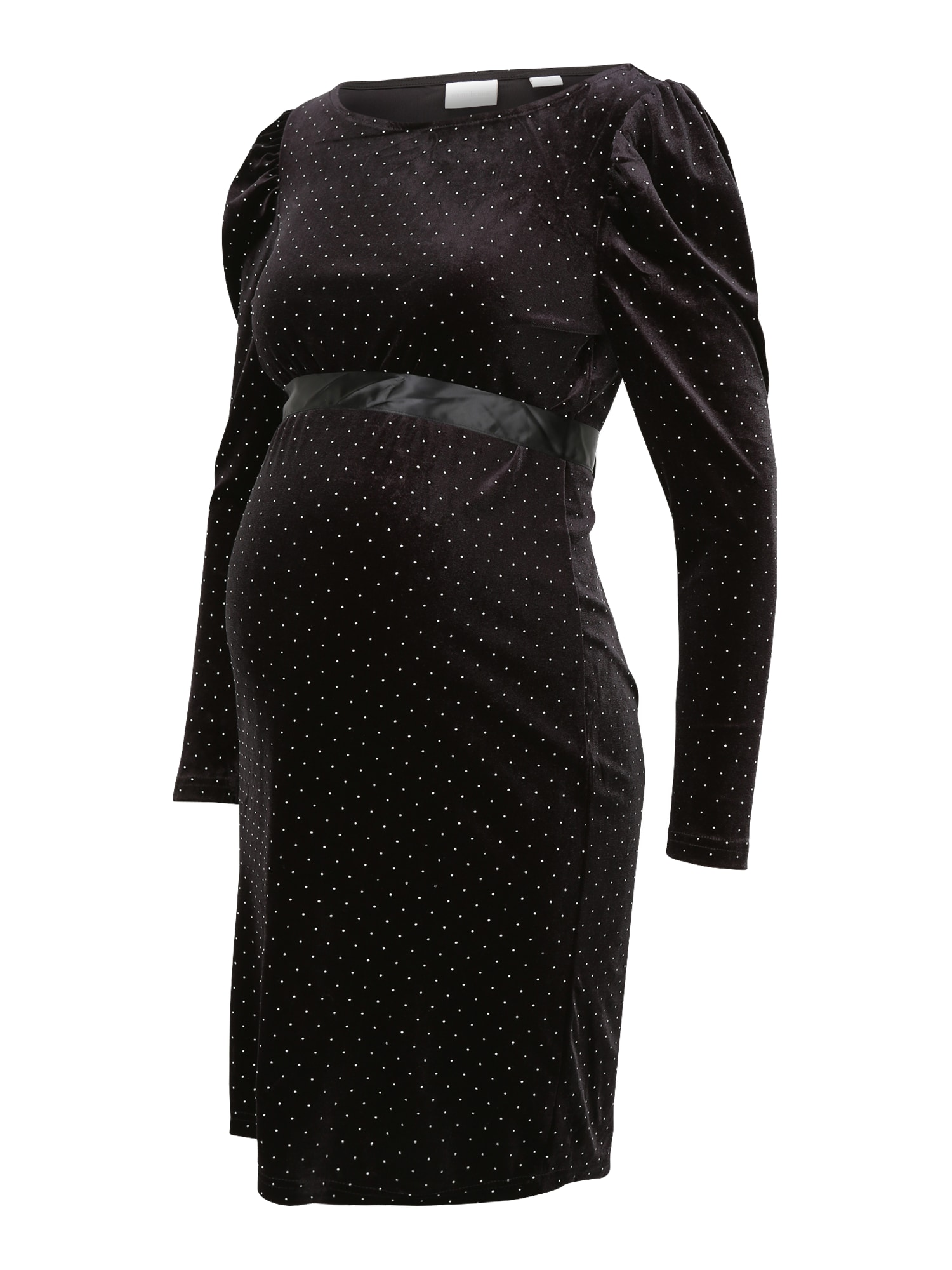 MAMALICIOUS Suknelė juoda / sidabrinė