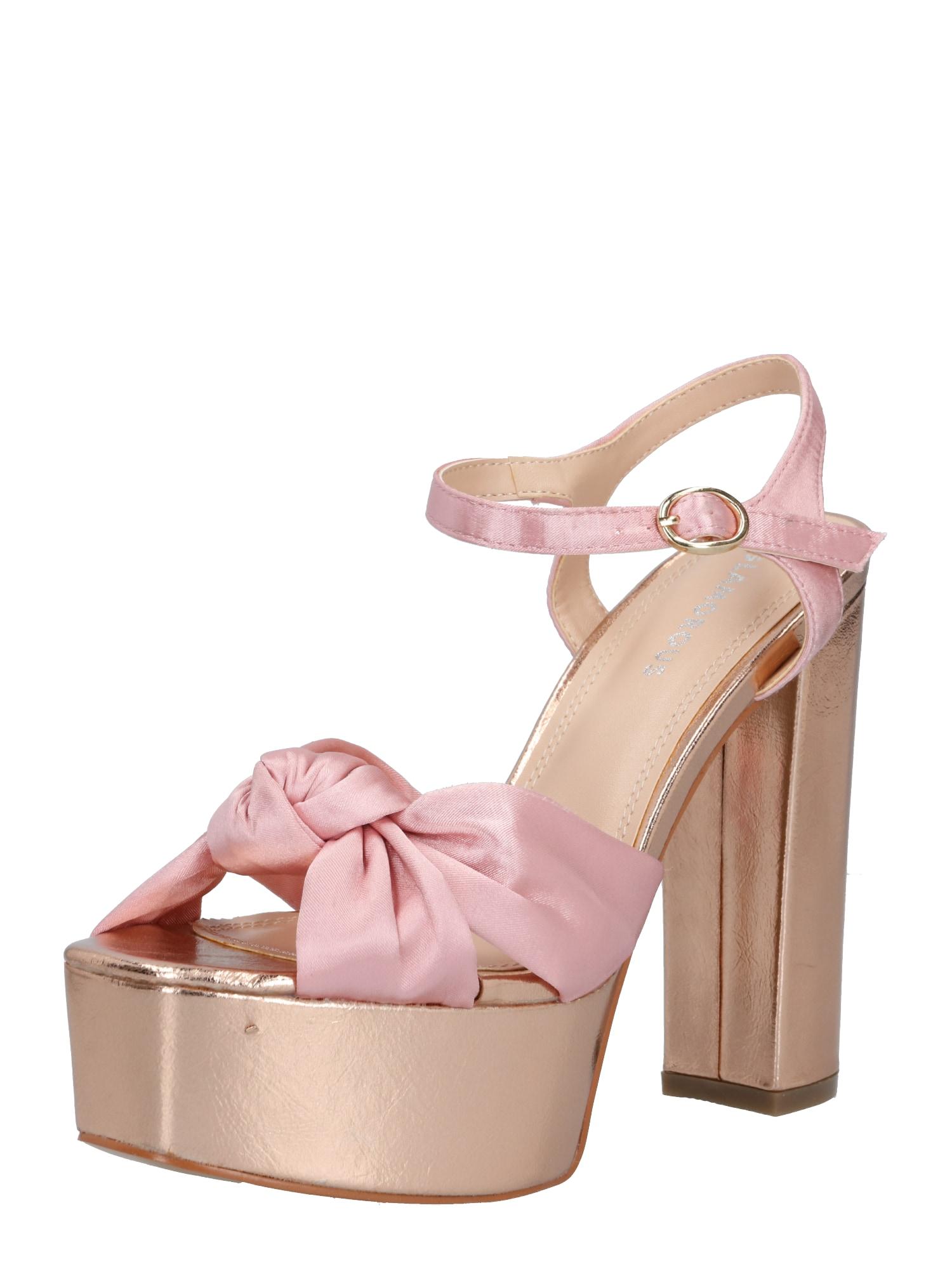 GLAMOROUS Páskové sandály  zlatá / růže