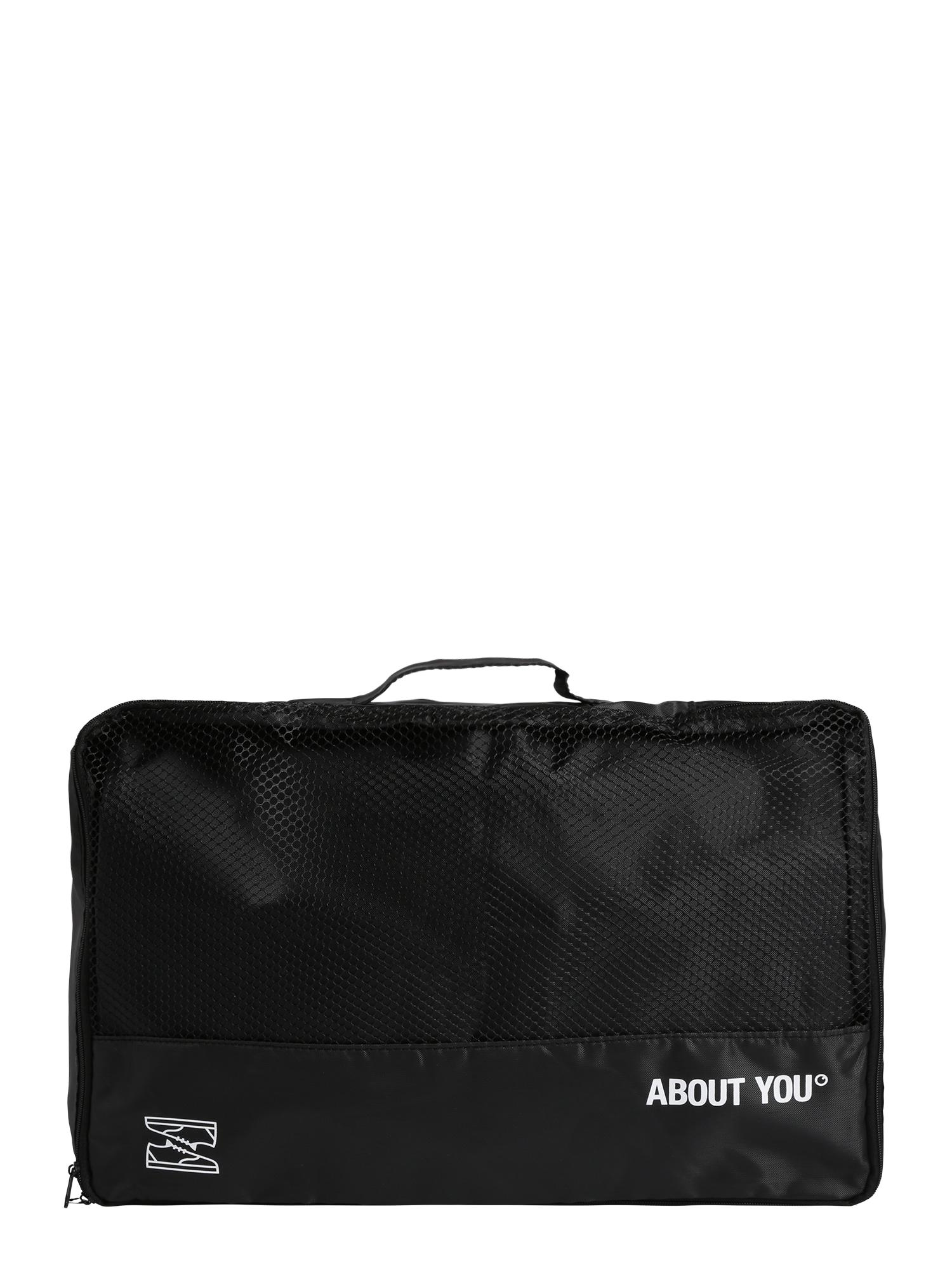 ABOUT YOU Kelioninis krepšys 'Icons' juoda