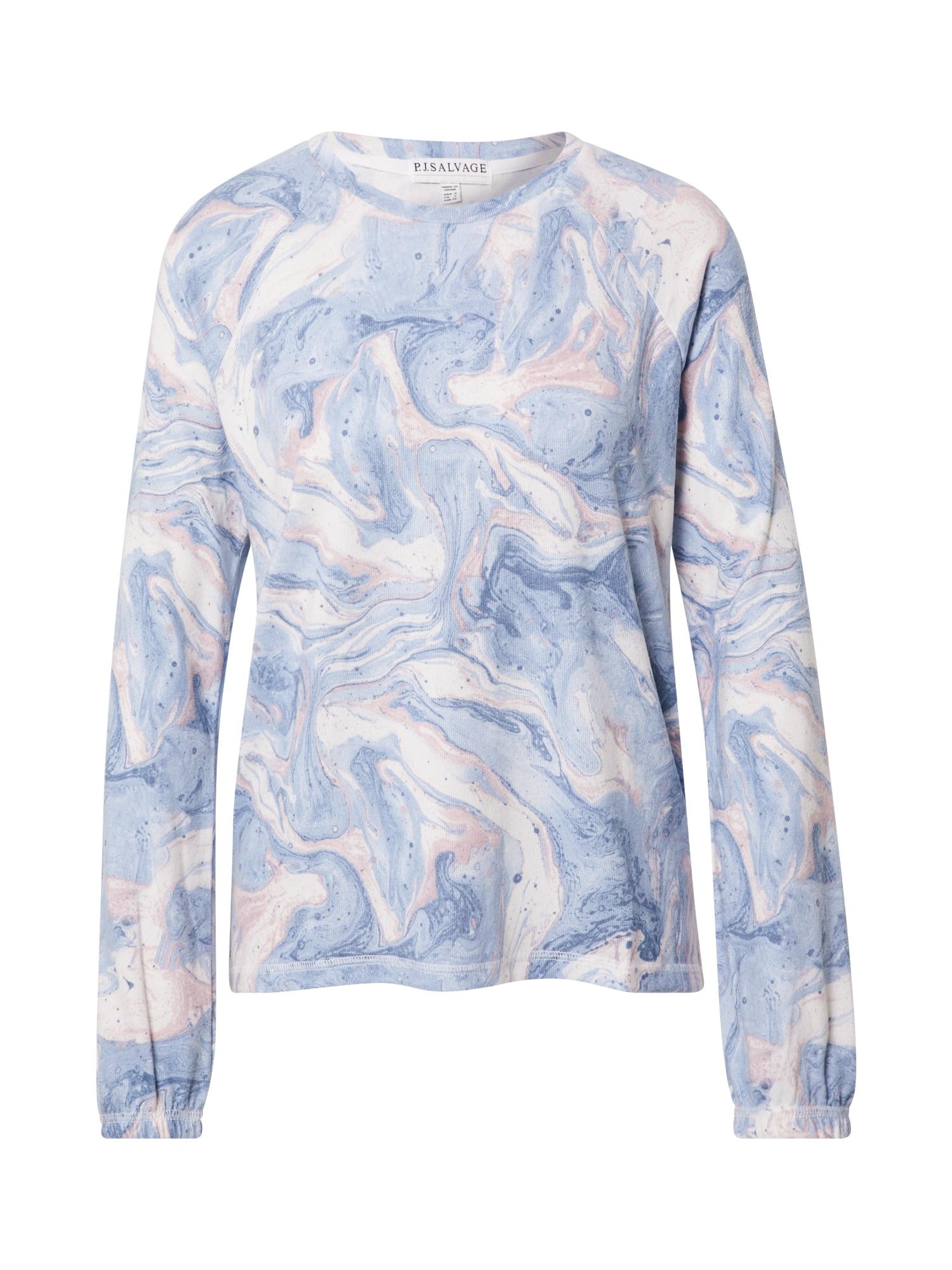 PJ Salvage Tričko  svetlomodrá / ružová / pastelovo ružová