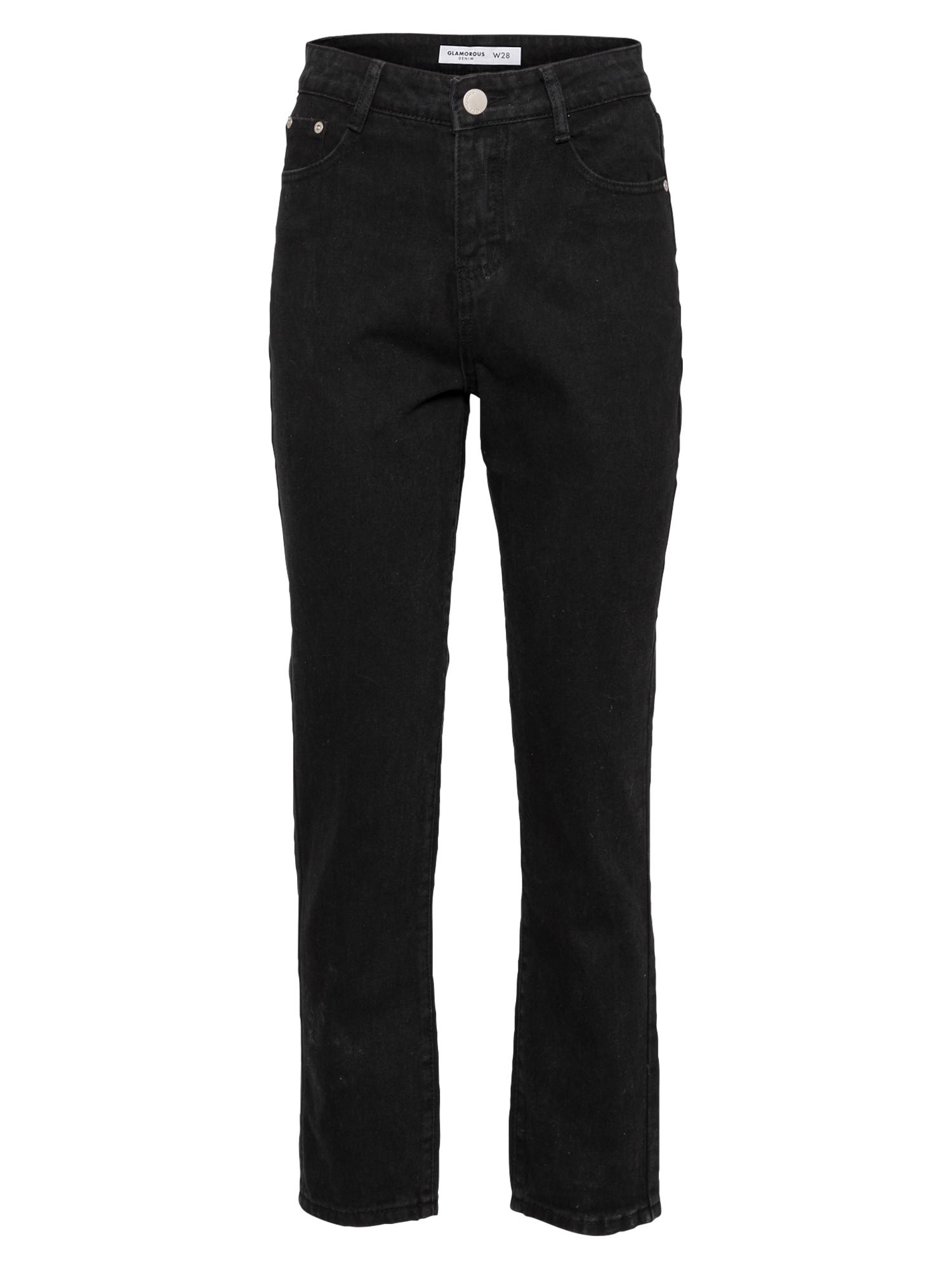 GLAMOROUS Džinsai juodo džinso spalva