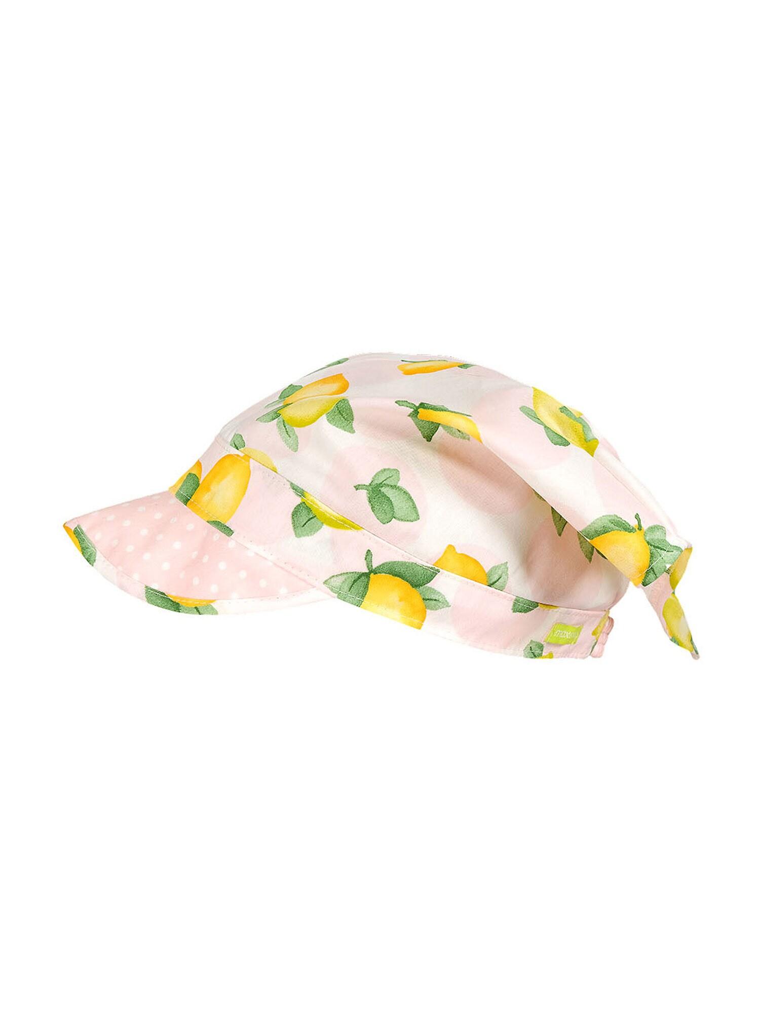 MAXIMO Megzta kepurė balta / rožių spalva / nendrių spalva / žaliosios citrinos spalva