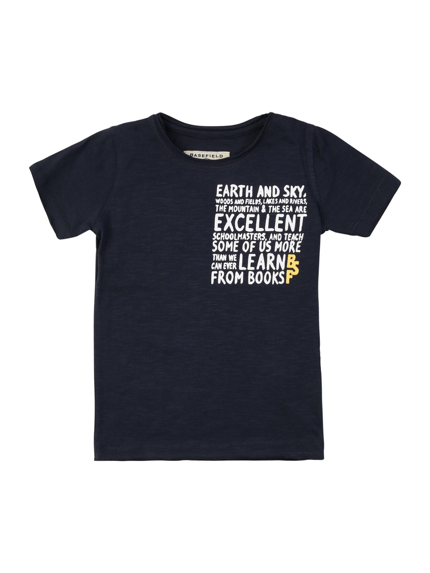 BASEFIELD Marškinėliai nakties mėlyna / balta / geltona
