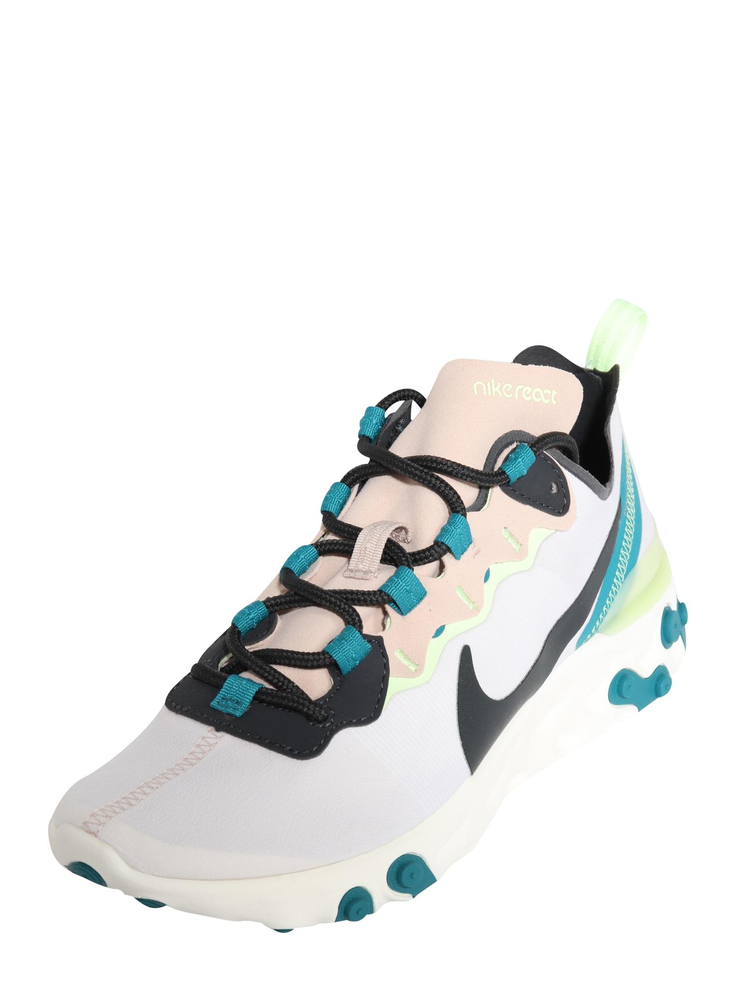 Nike Sportswear Sportbačiai be auliuko 'React Element 55' šviesiai pilka / juoda