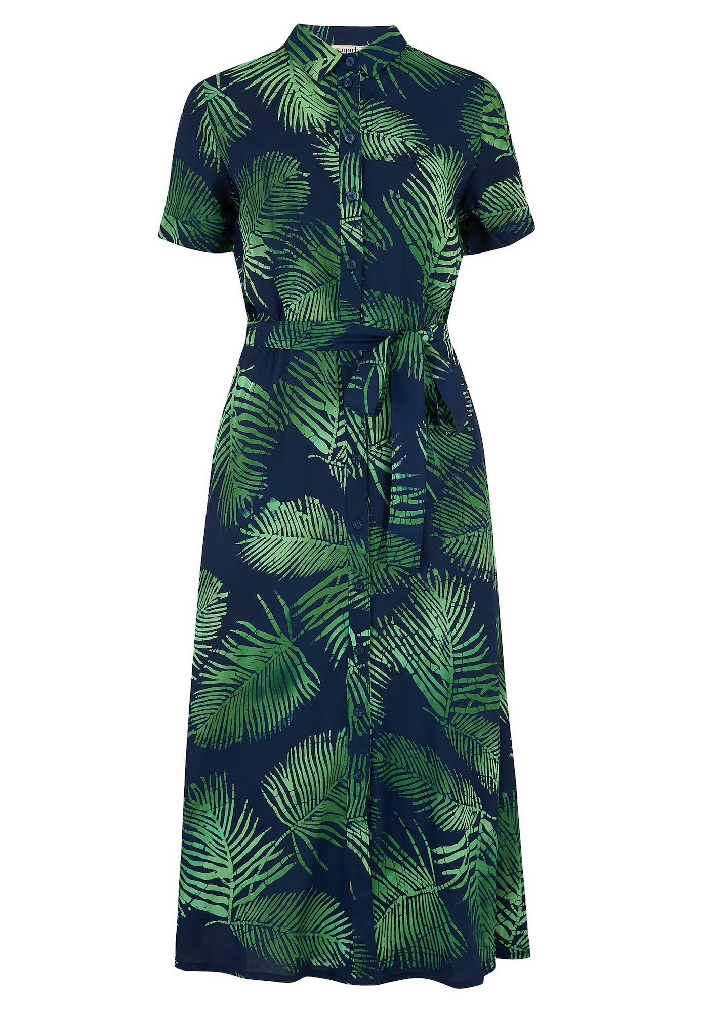 Sugarhill Brighton Suknelė žalia / tamsiai mėlyna