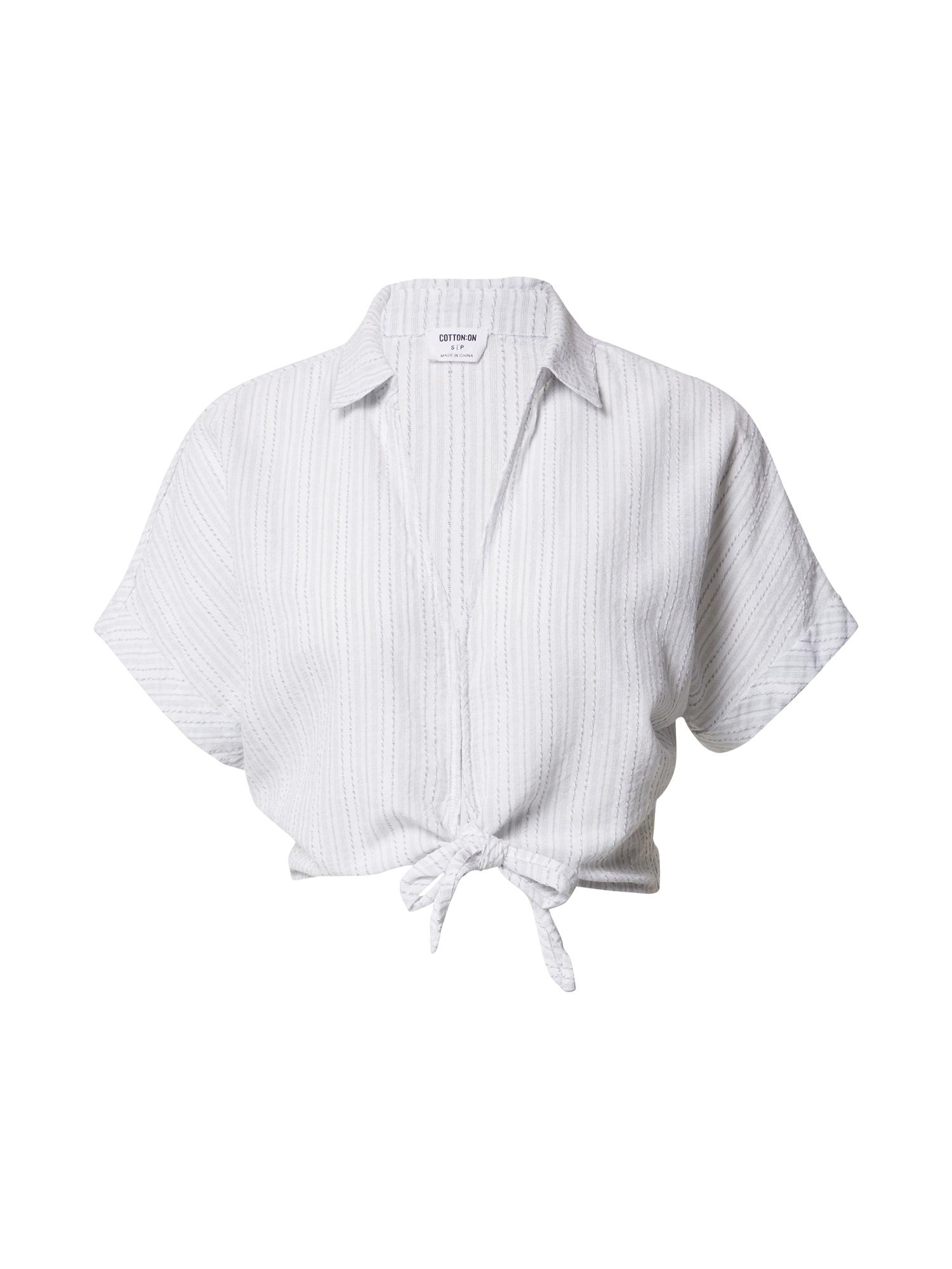 Cotton On Tričko 'Sasha'  bílá / světle šedá