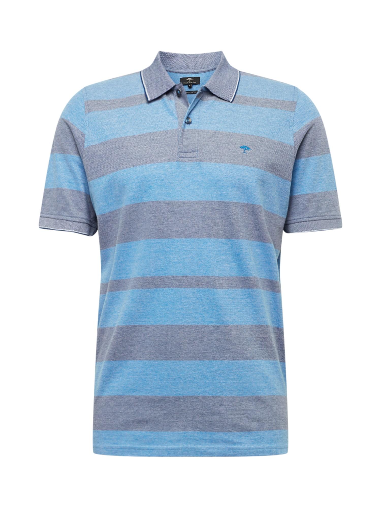 FYNCH-HATTON Marškinėliai turkio spalva / melsvai pilka