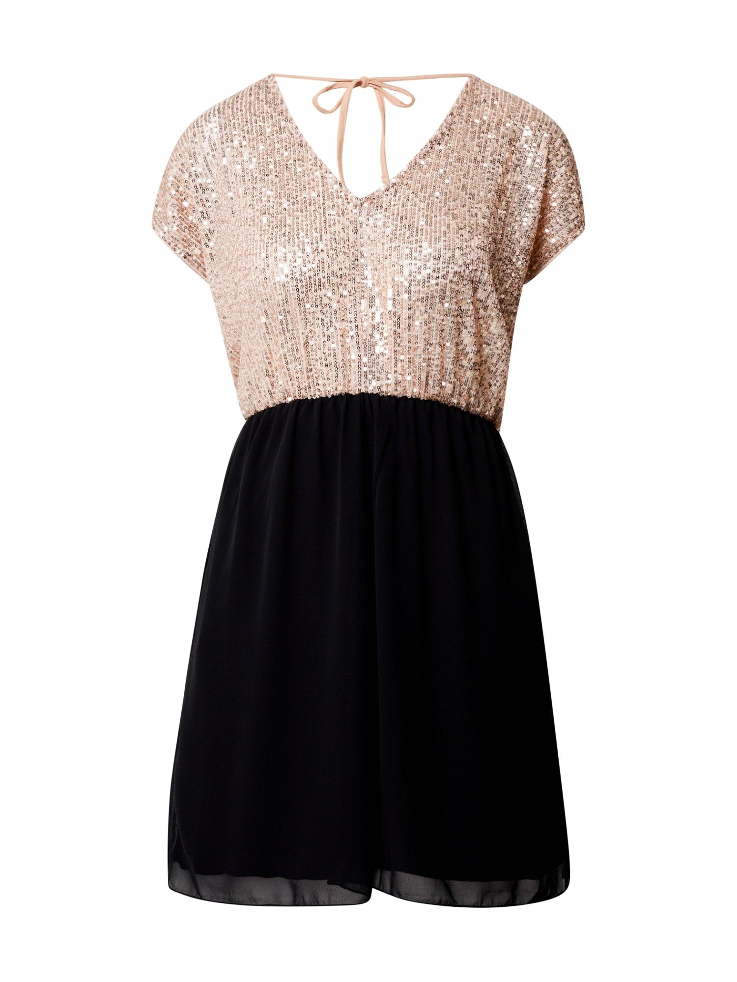 ABOUT YOU Koktejlové šaty 'Mila'  černá / měděná