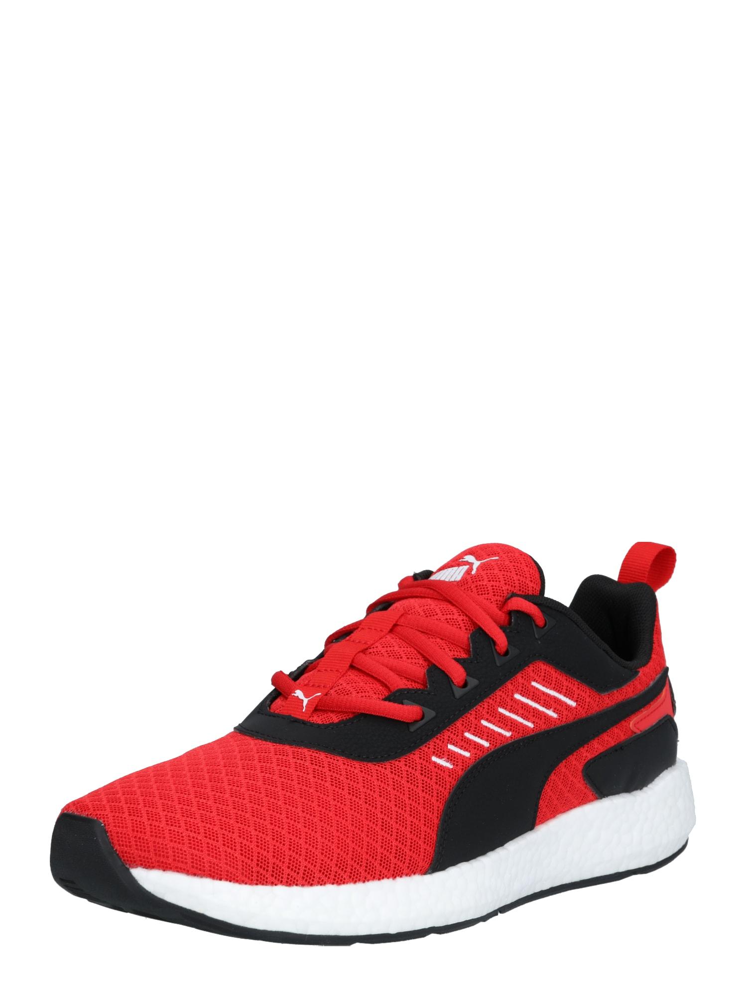 PUMA Sportovní boty  červená / černá