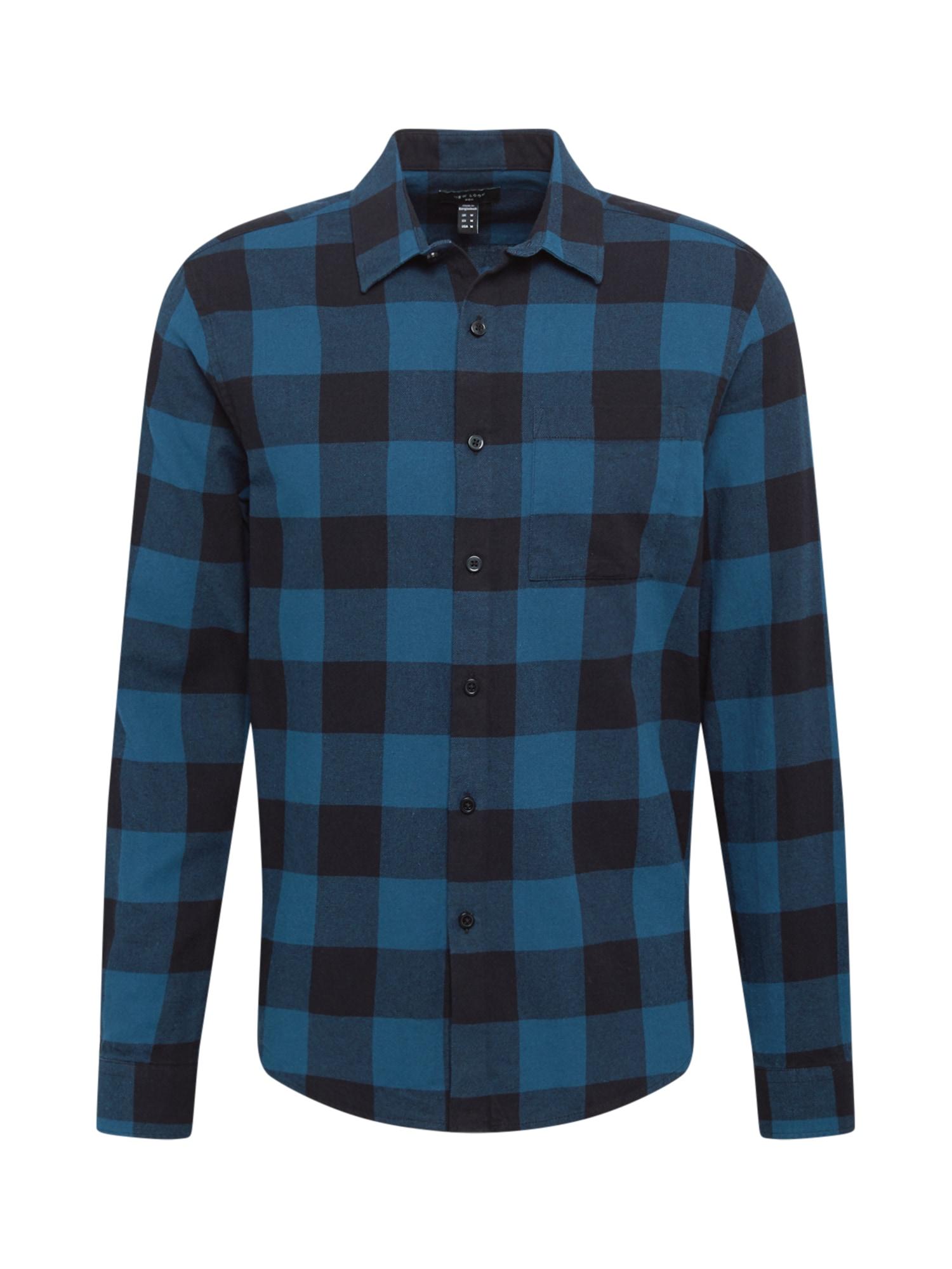 NEW LOOK Marškiniai nakties mėlyna / dangaus žydra
