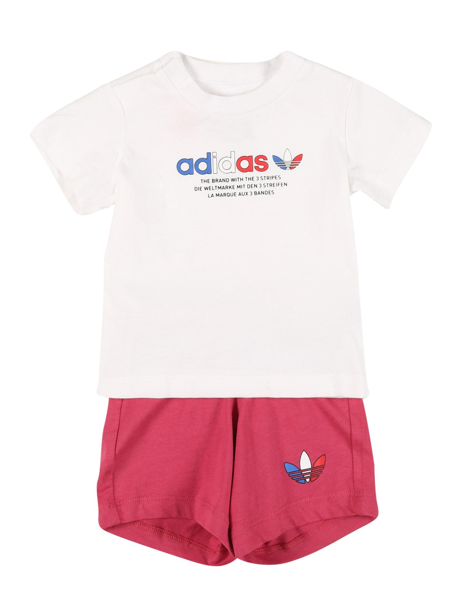 ADIDAS ORIGINALS Rinkinys balta / rožinė / mėlyna / raudona