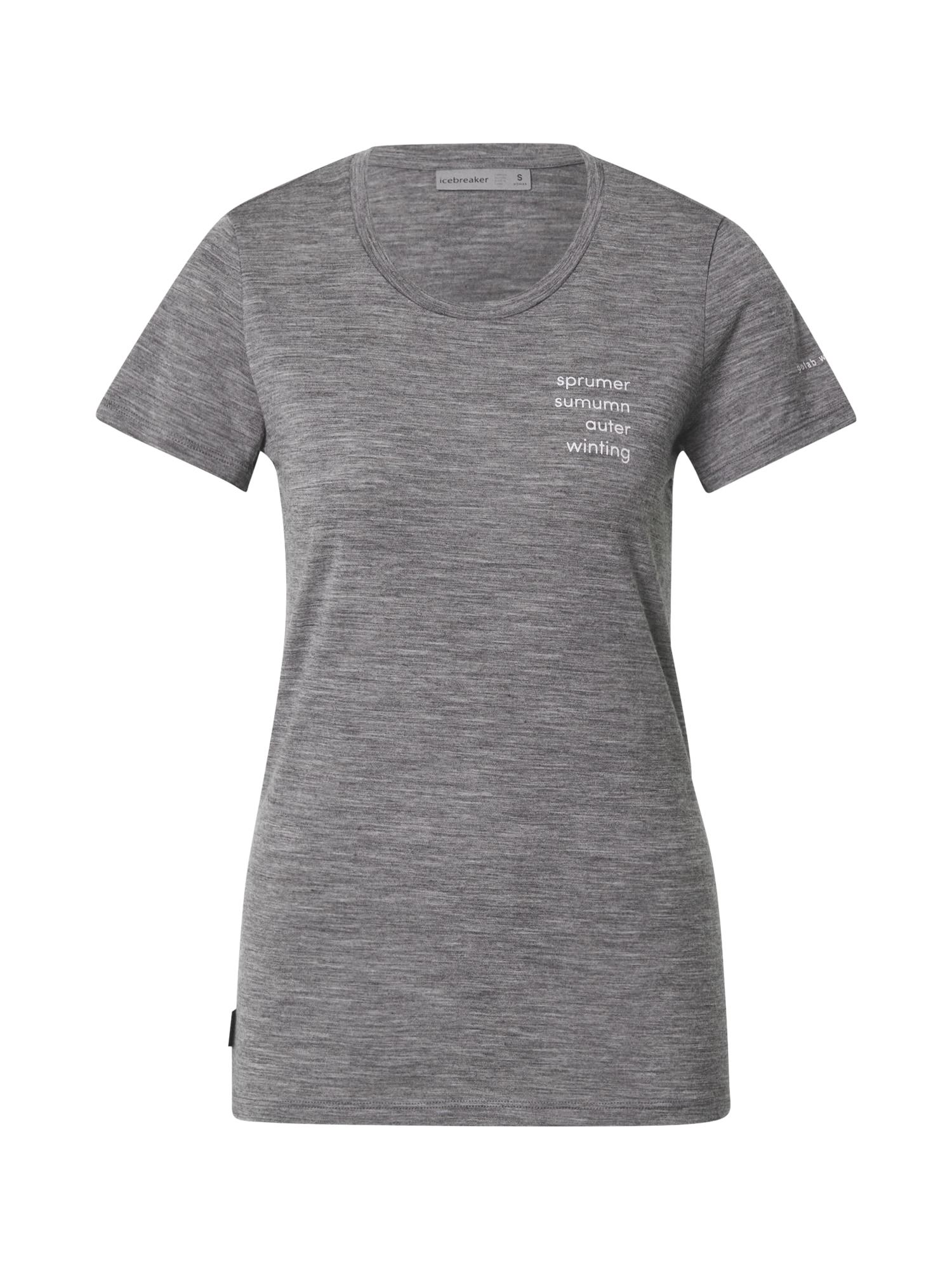 Icebreaker Sportiniai marškinėliai balta / pilka