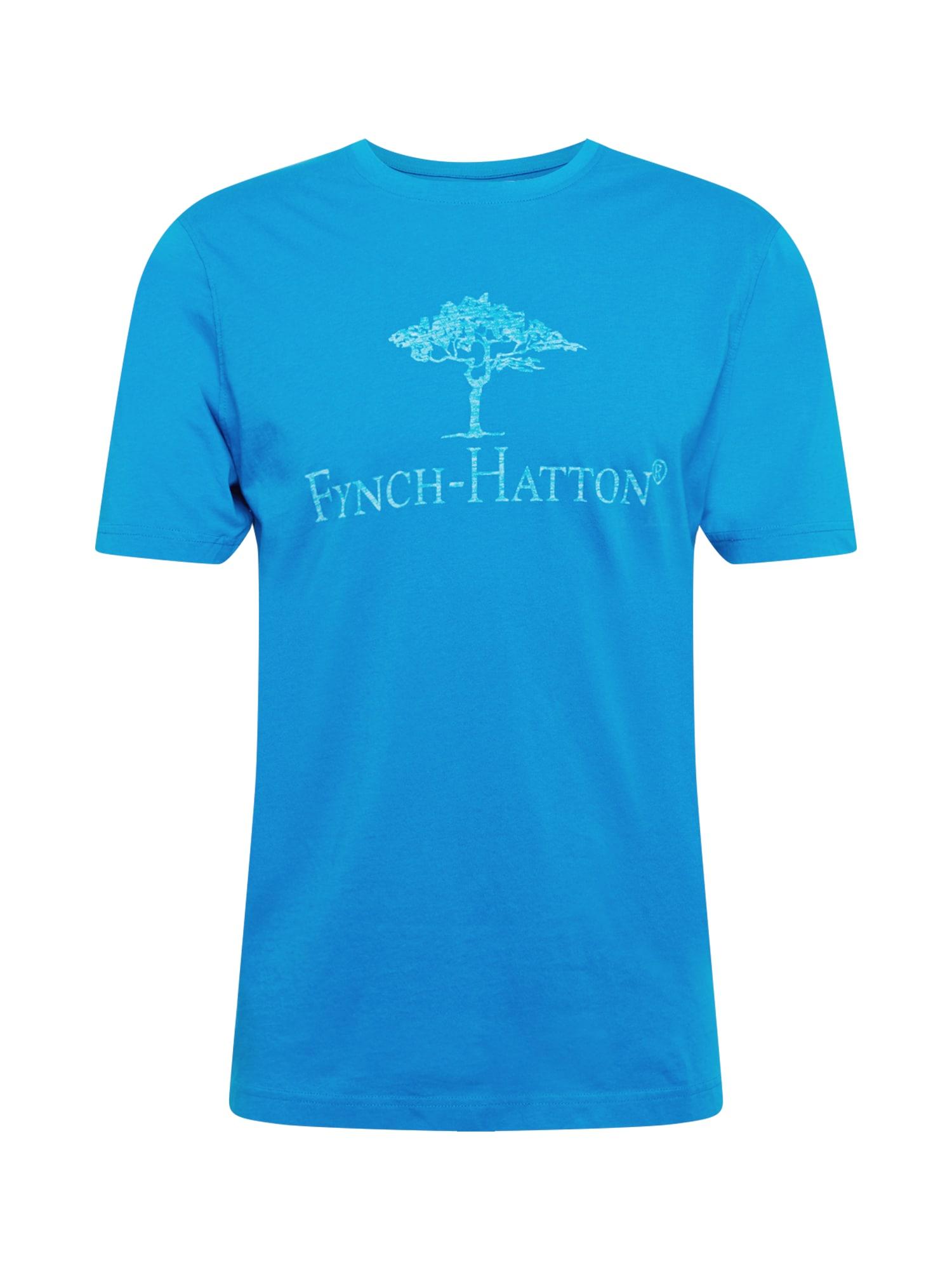 FYNCH-HATTON Marškinėliai mėlyna / turkio spalva
