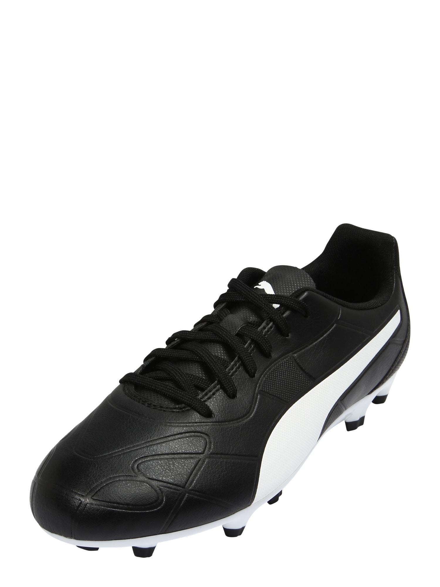 PUMA Sportiniai batai juoda / balta