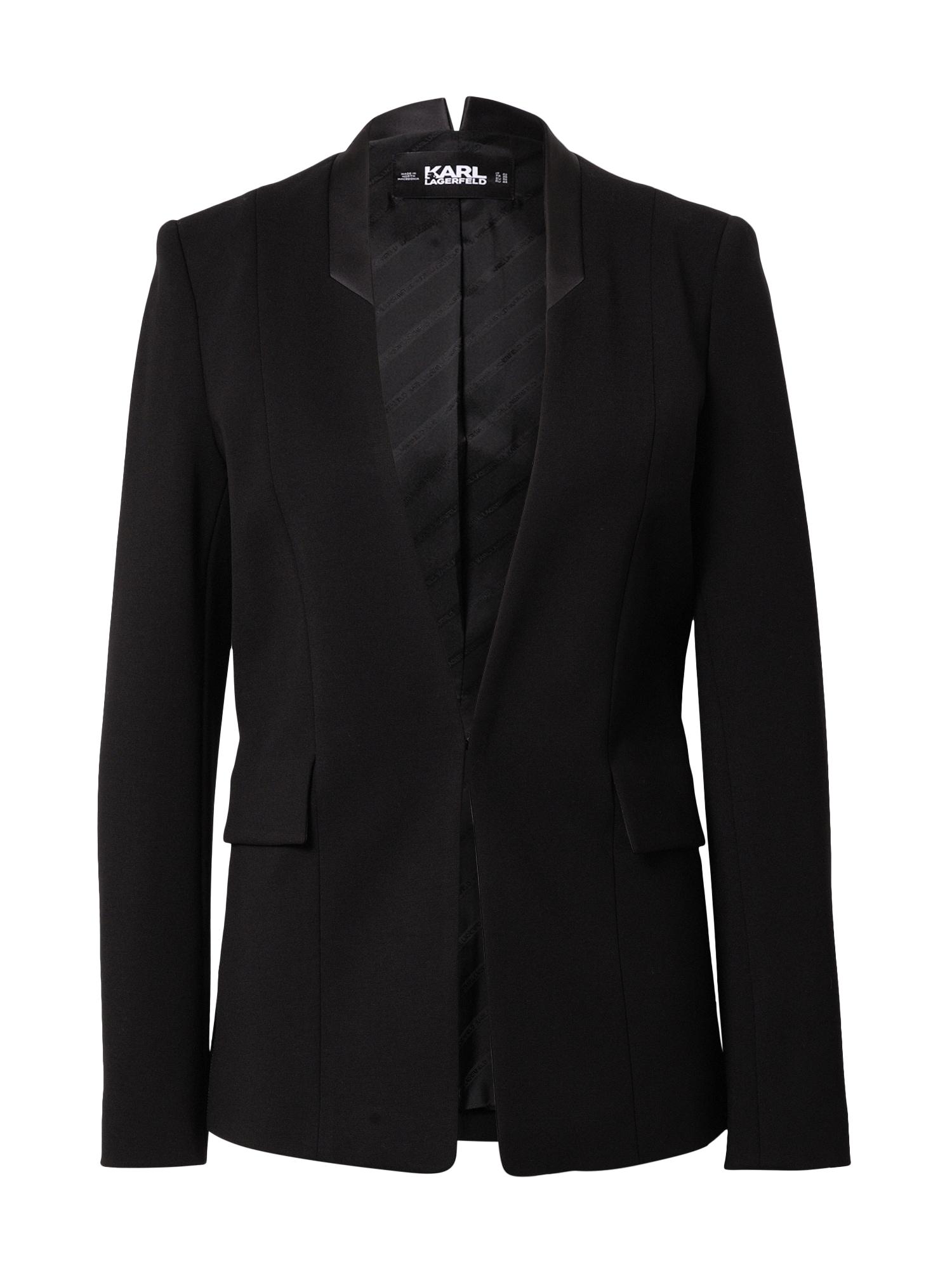 Karl Lagerfeld Švarkas sidabrinė / juoda