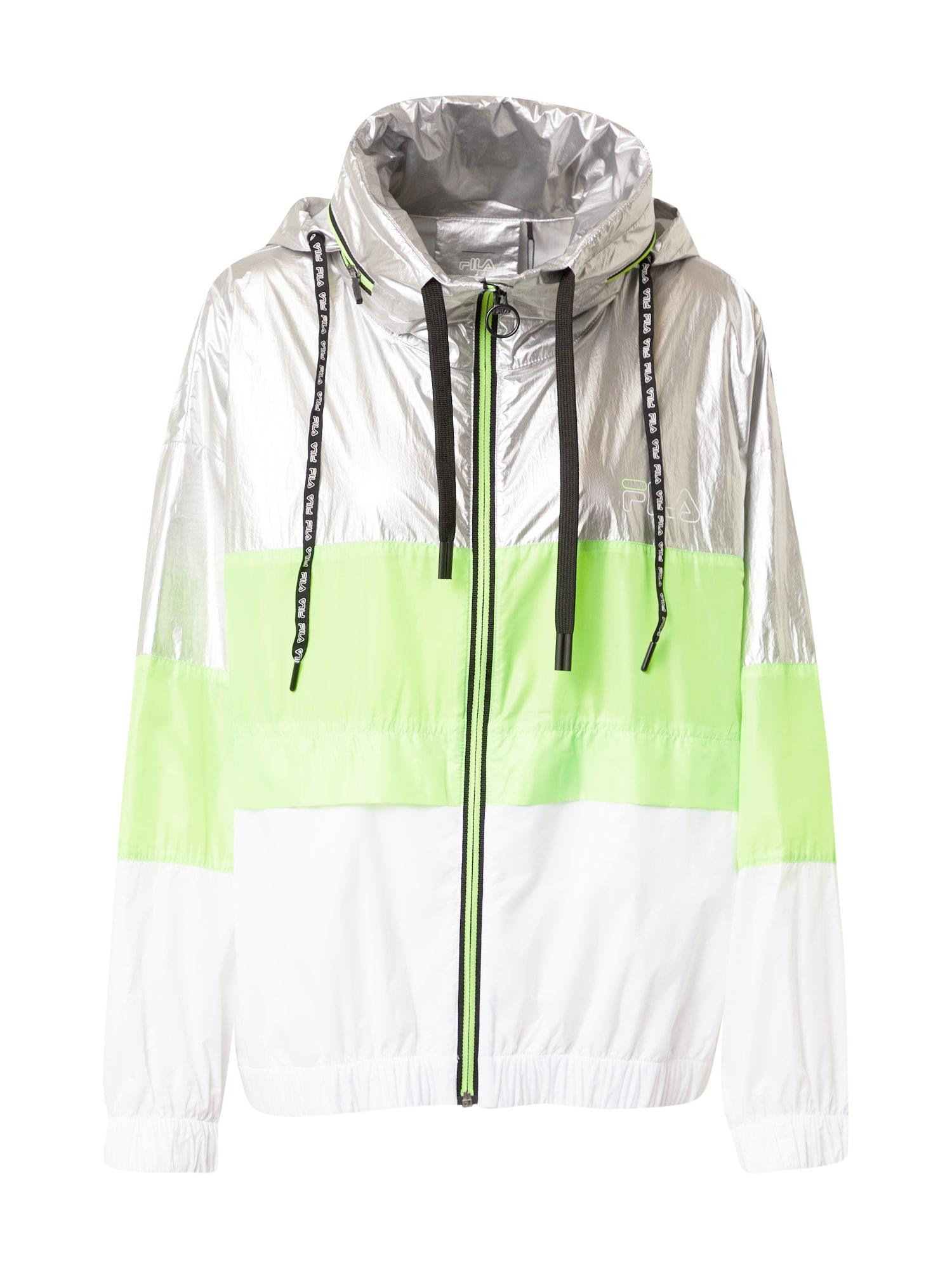 FILA Funkční bunda 'AUGUSTA'  bílá / stříbrná / zelená