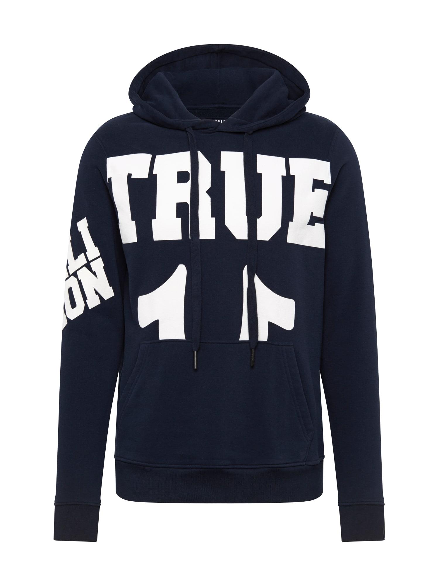 True Religion Mikina  bílá / námořnická modř