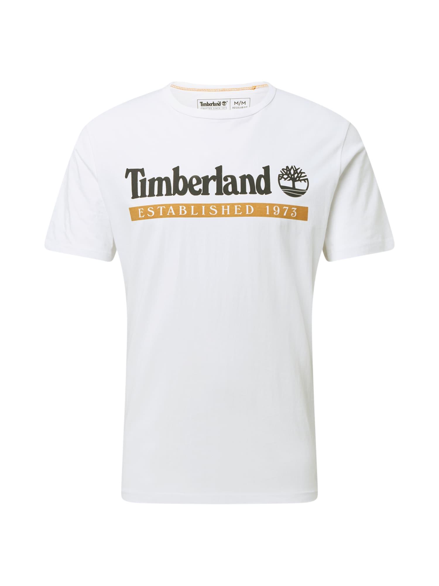 TIMBERLAND Marškinėliai balta / smėlio / juoda