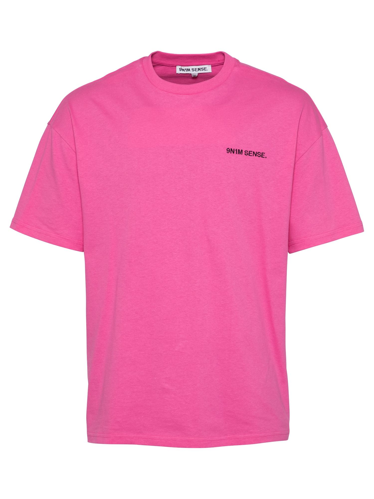 9N1M SENSE Marškinėliai rožinė / juoda