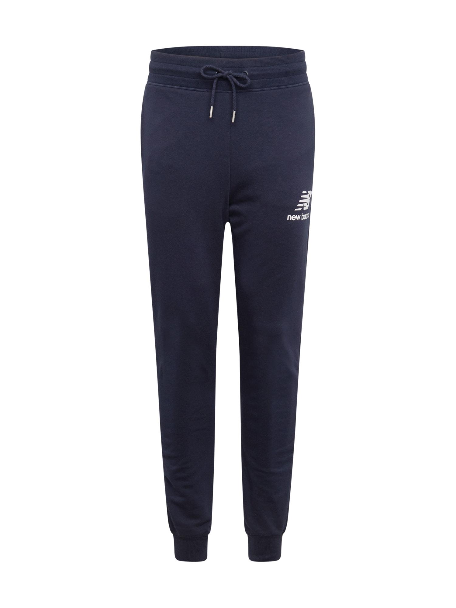 new balance Sportovní kalhoty  marine modrá / bílá