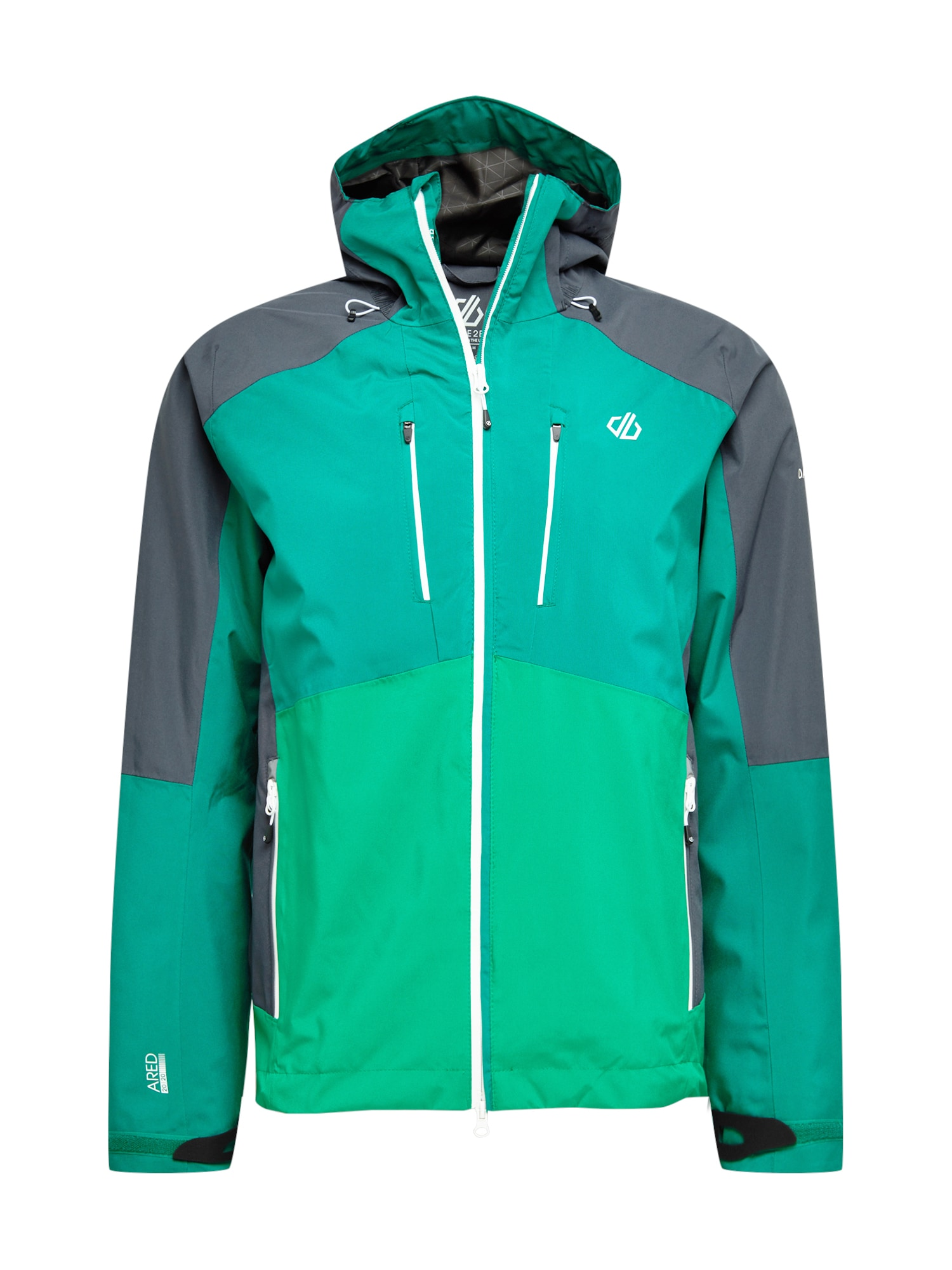 DARE2B Outdoorová bunda 'Soaring'  zelená / světle zelená / černá