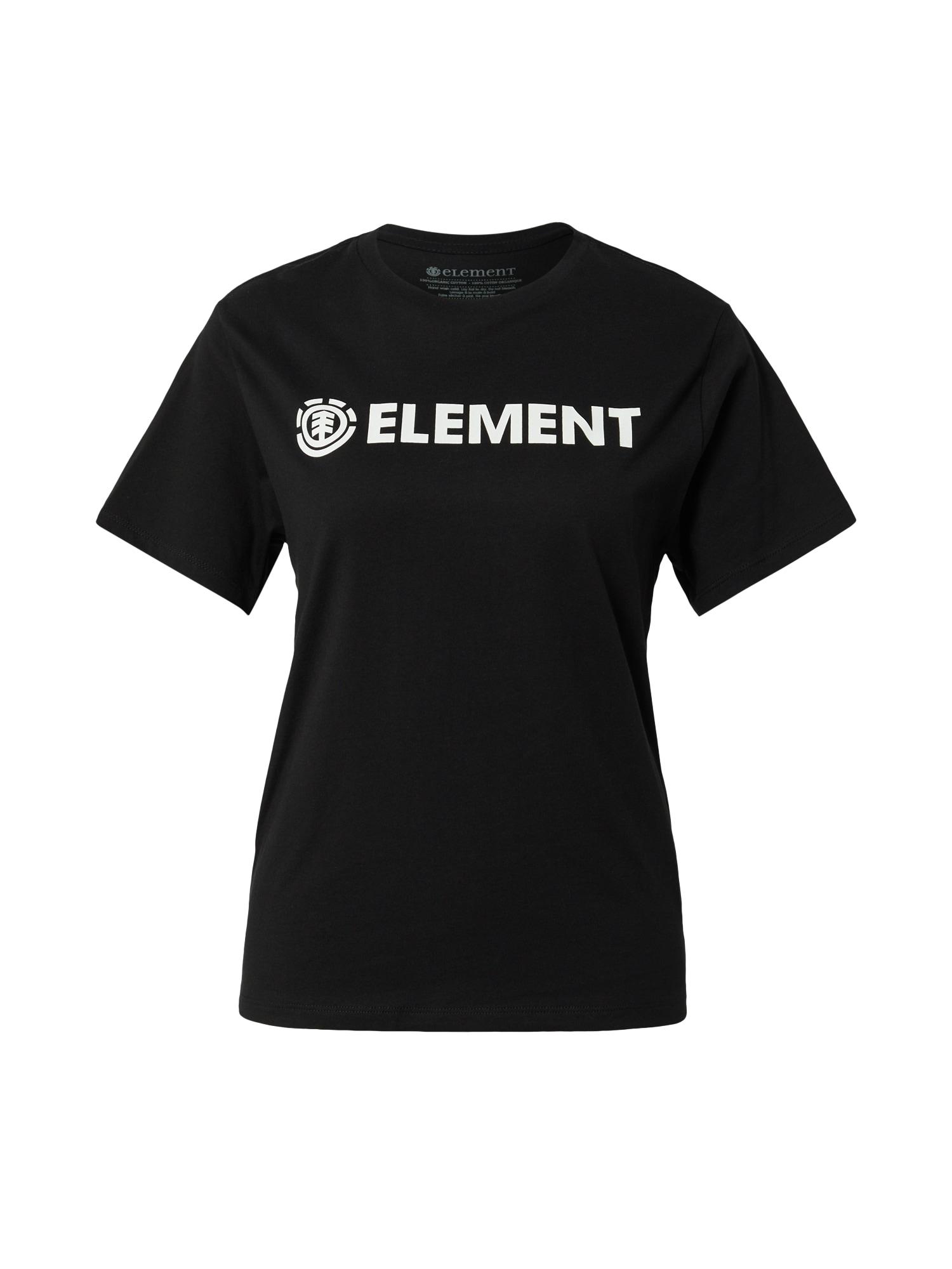 ELEMENT Sportiniai marškinėliai juoda / balta