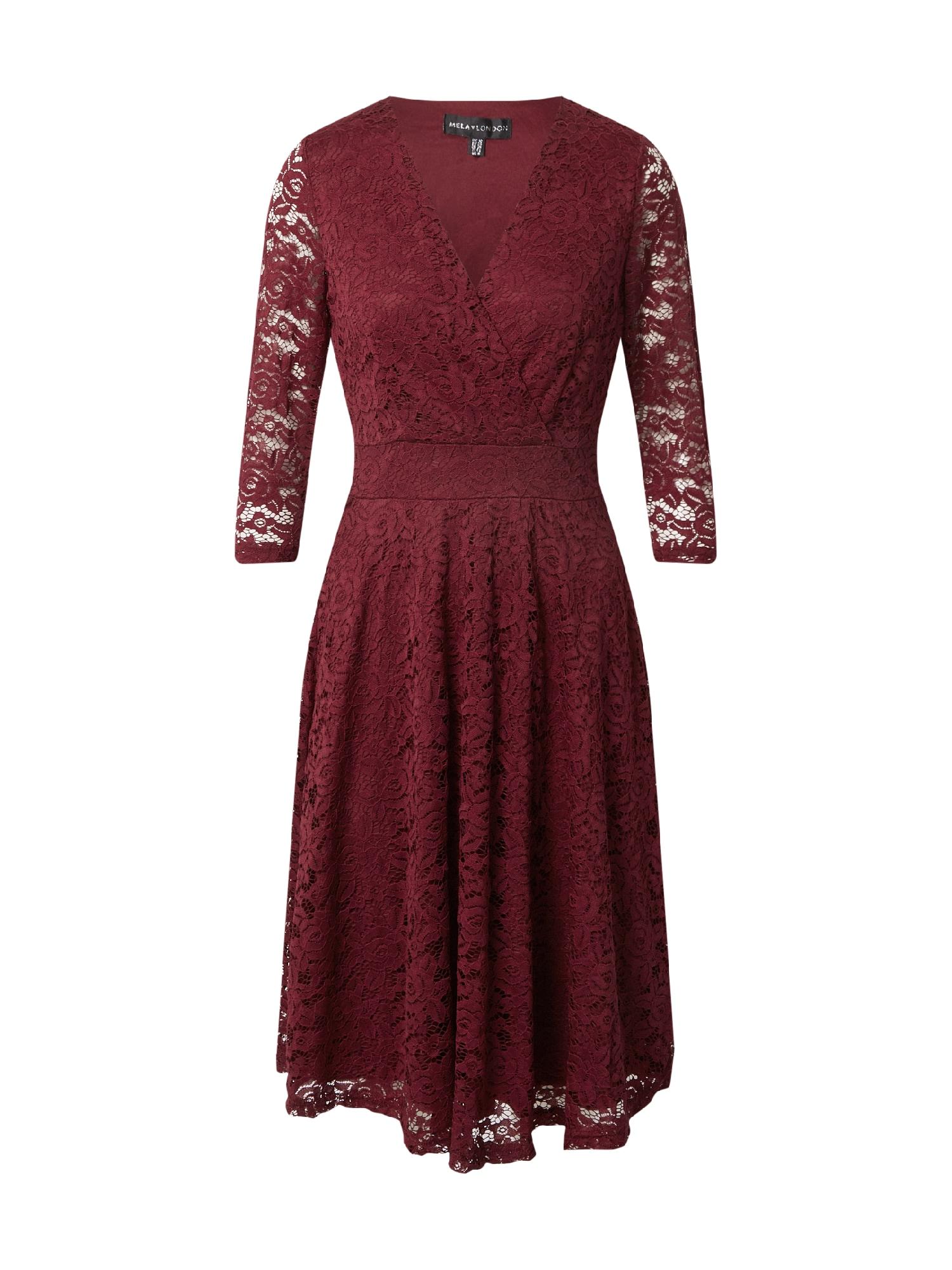 Mela London Suknelė vyšninė spalva