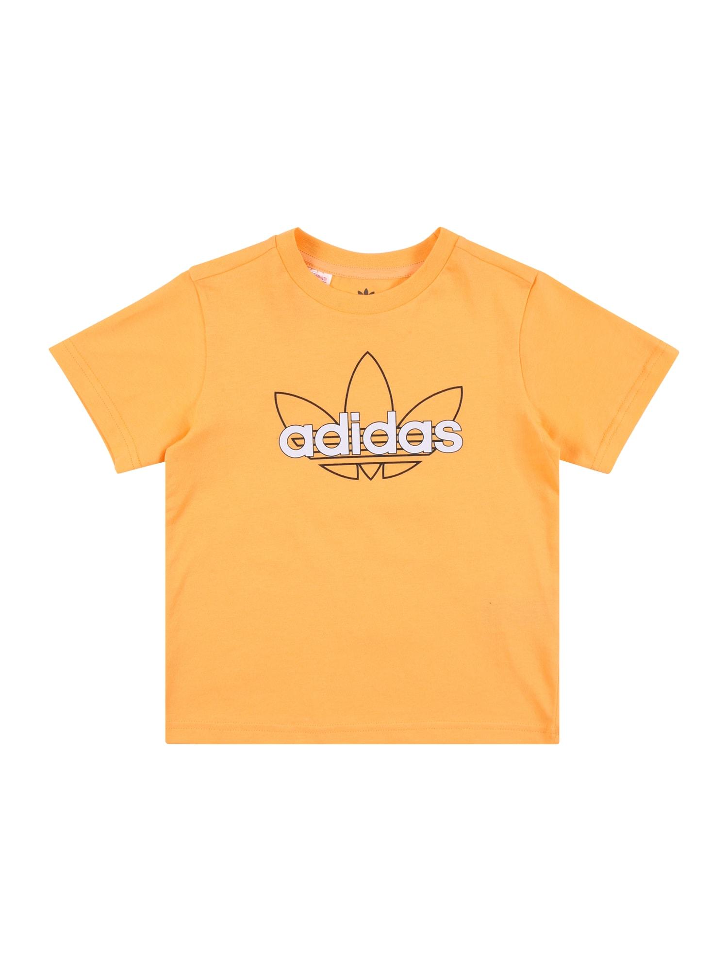 ADIDAS ORIGINALS Marškinėliai geltona / balta / juoda