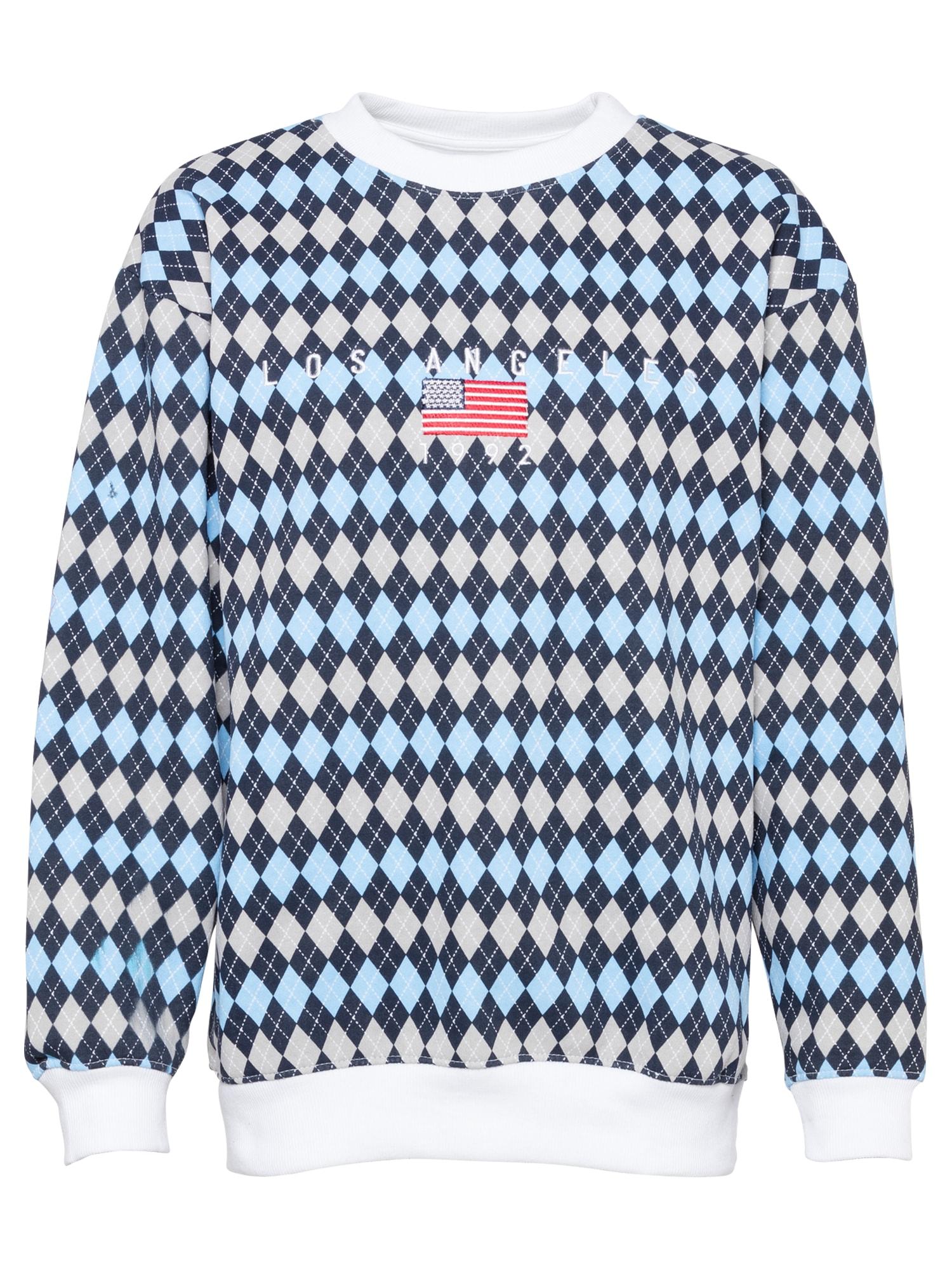 Daisy Street Megztinis be užsegimo mėlyna / tamsiai mėlyna / smėlio / balta