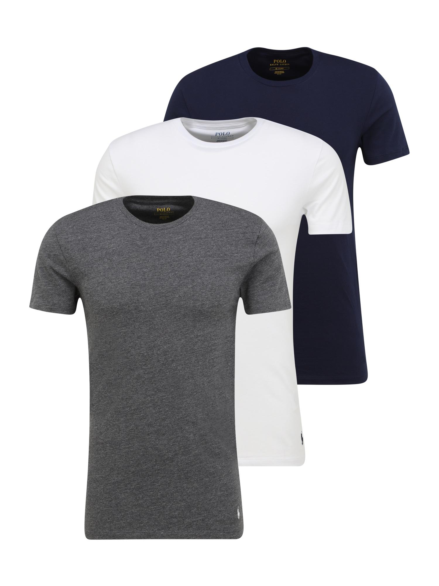 POLO RALPH LAUREN Apatiniai marškinėliai margai pilka / balta / tamsiai mėlyna