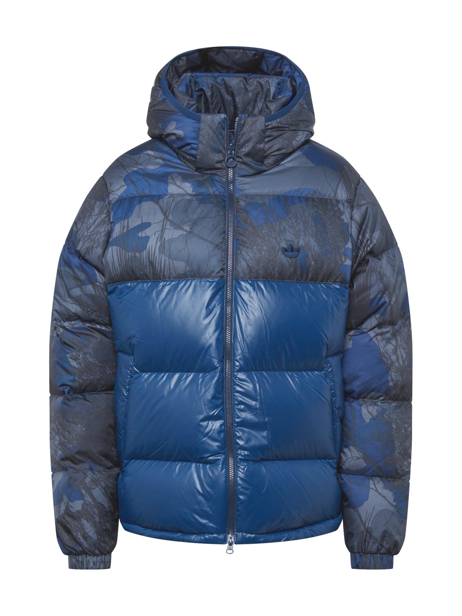 "ADIDAS ORIGINALS Žieminė striukė sodri mėlyna (""karališka"") / mėlyna dūmų spalva / pilka"