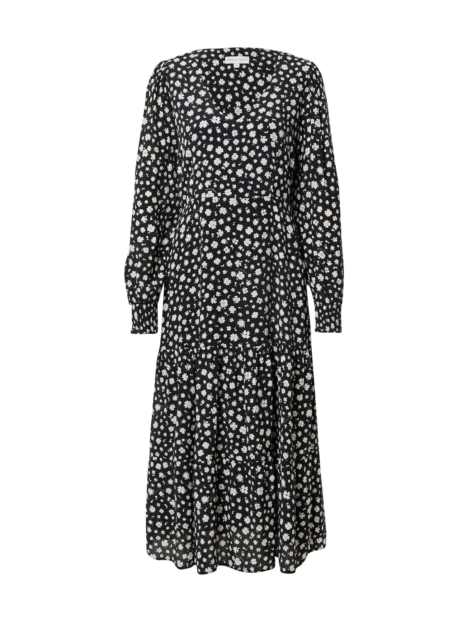 Fabienne Chapot Koktejlové šaty 'Joni'  bílá / černá