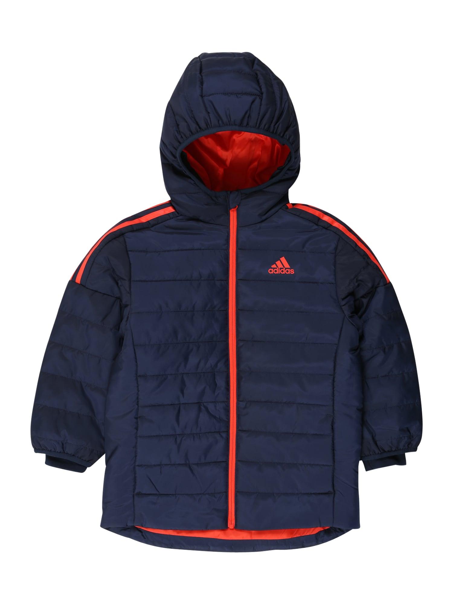 ADIDAS PERFORMANCE Sportinė striukė tamsiai mėlyna / raudona