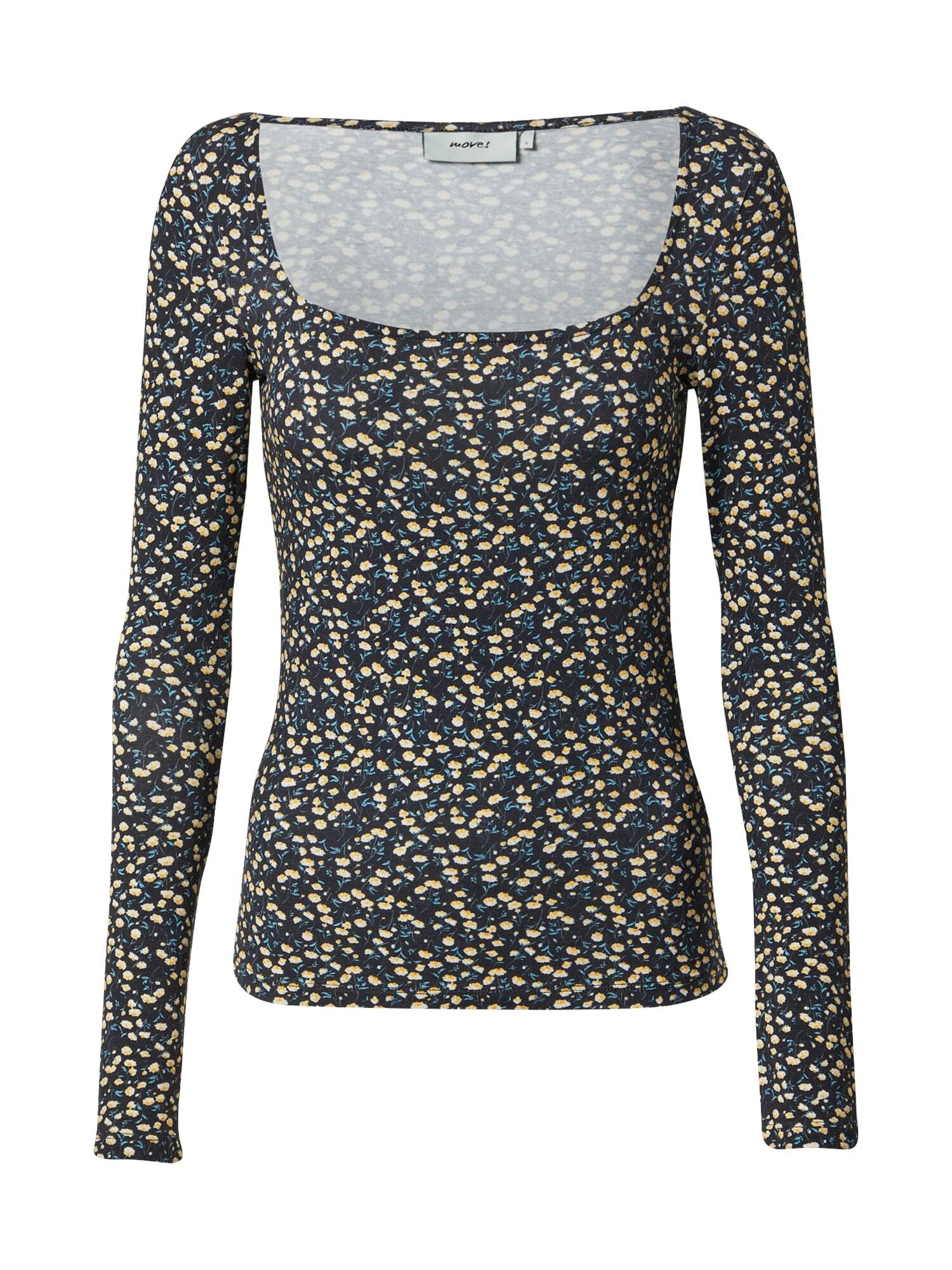 Moves Marškinėliai juoda / geltona / balta / mėlyna