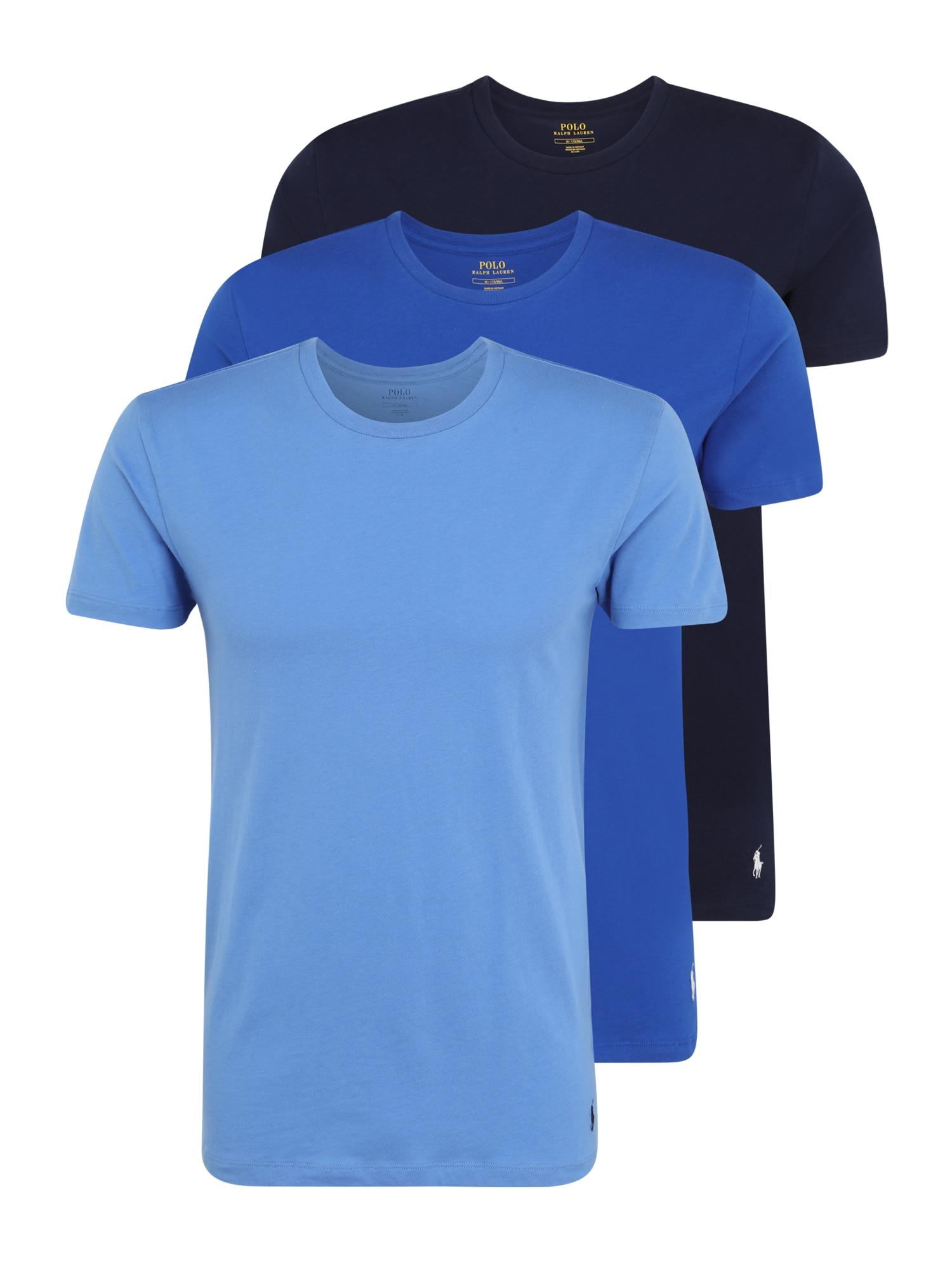 POLO RALPH LAUREN Apatiniai marškinėliai mėlyna dūmų spalva / mėlyna / nakties mėlyna