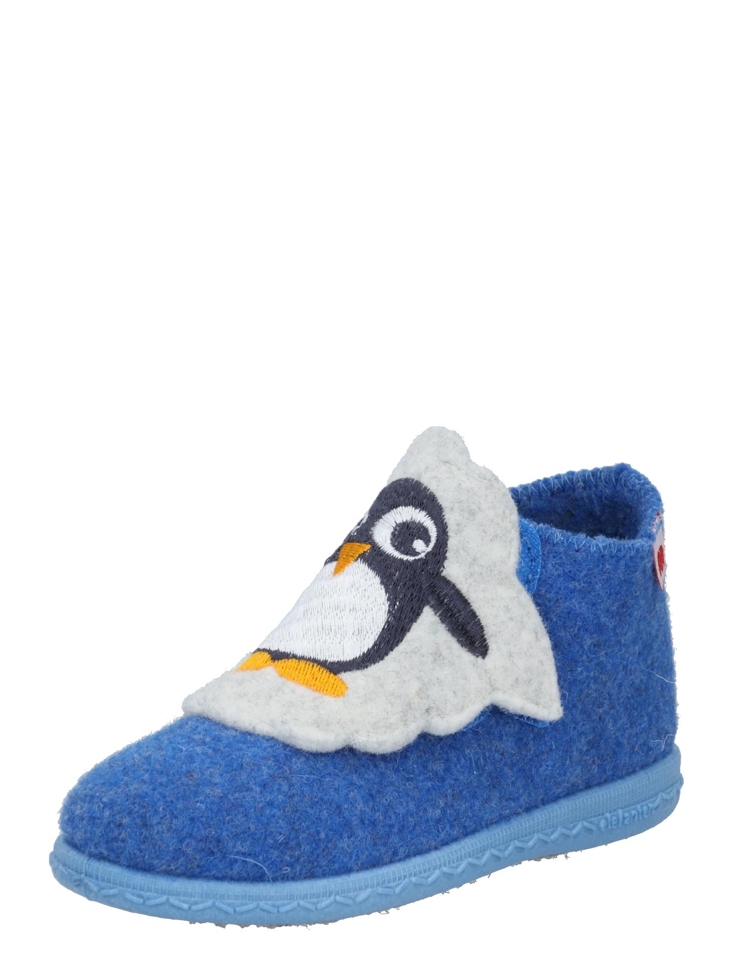 ELEFANTEN Pantofle 'Pea'  modrá / černá / žlutá / bílá