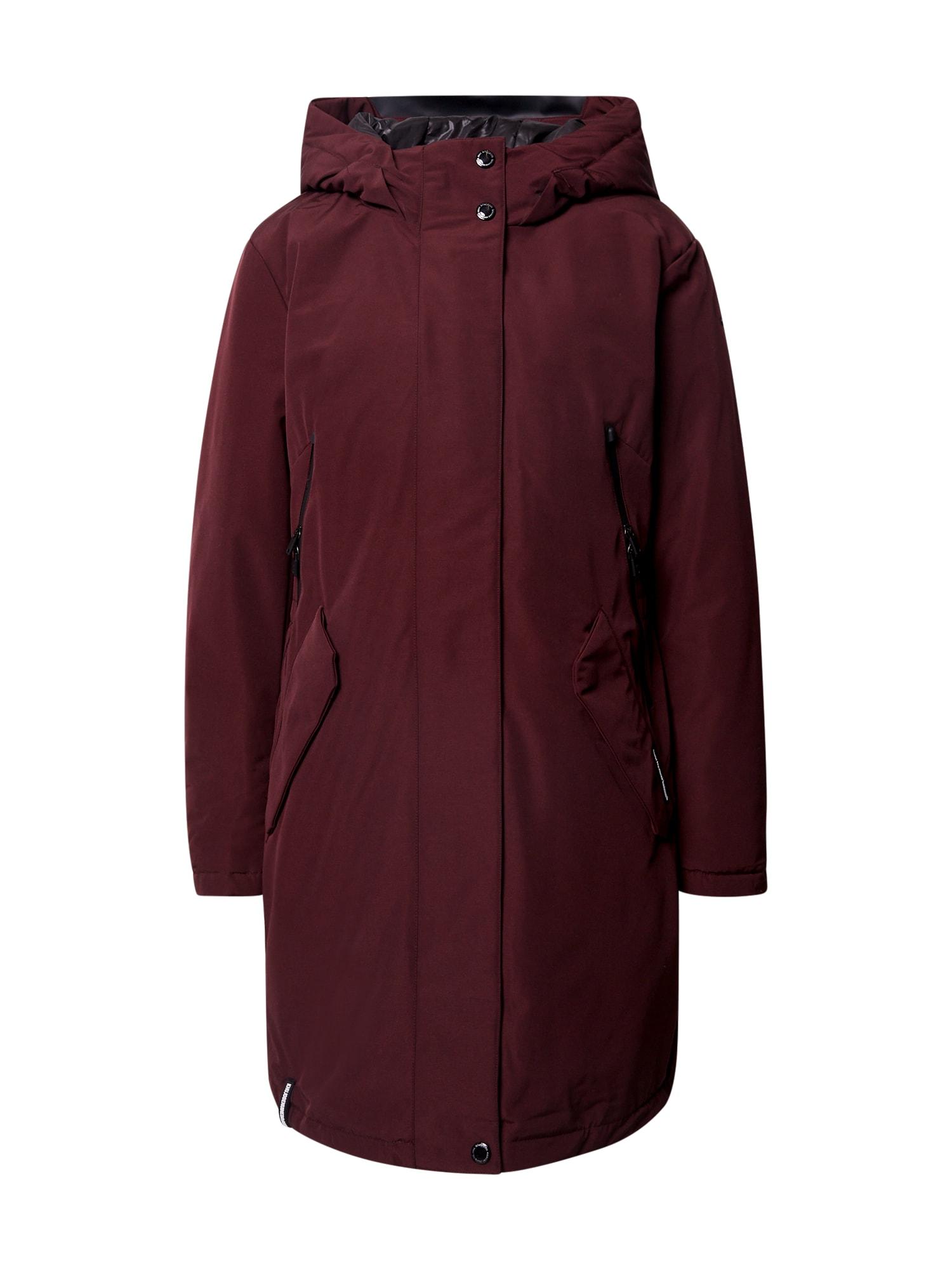 khujo Zimní kabát 'Charlyn'  vínově červená