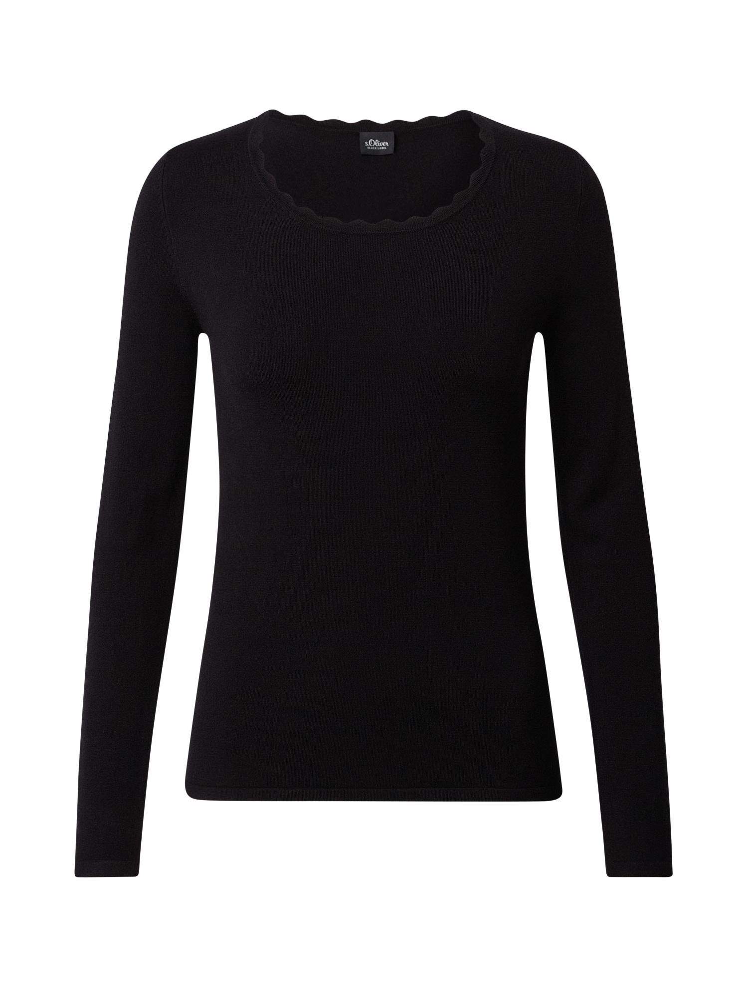 s.Oliver BLACK LABEL Megztinis juoda