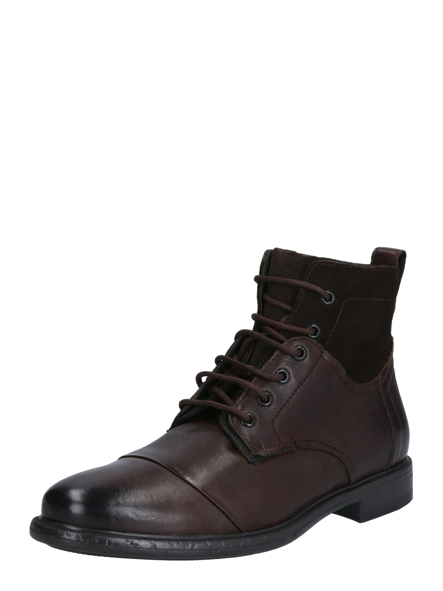 GEOX Auliniai batai su raišteliais tamsiai ruda