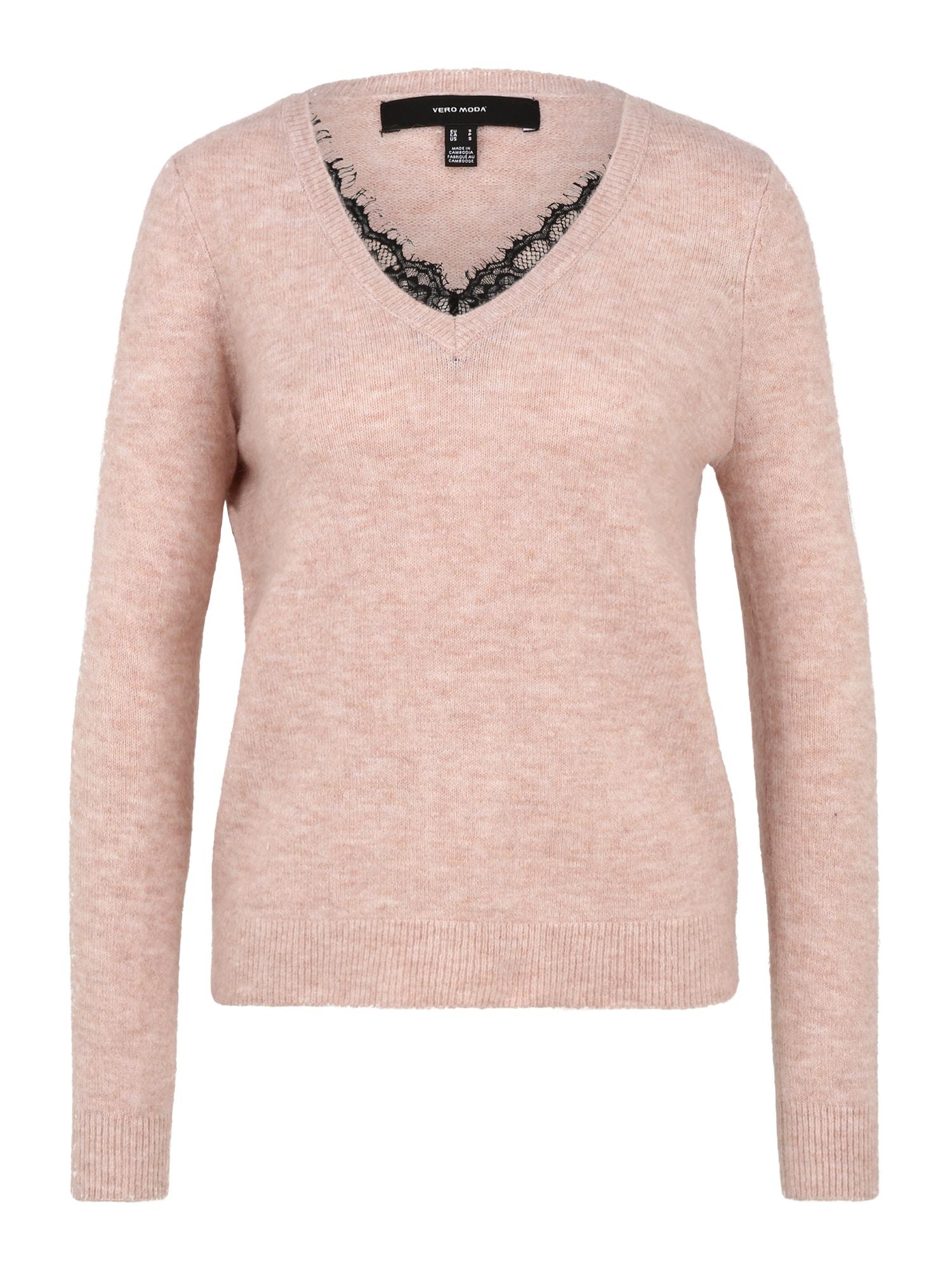 Vero Moda Petite Megztinis rožinė / tamsiai rusva