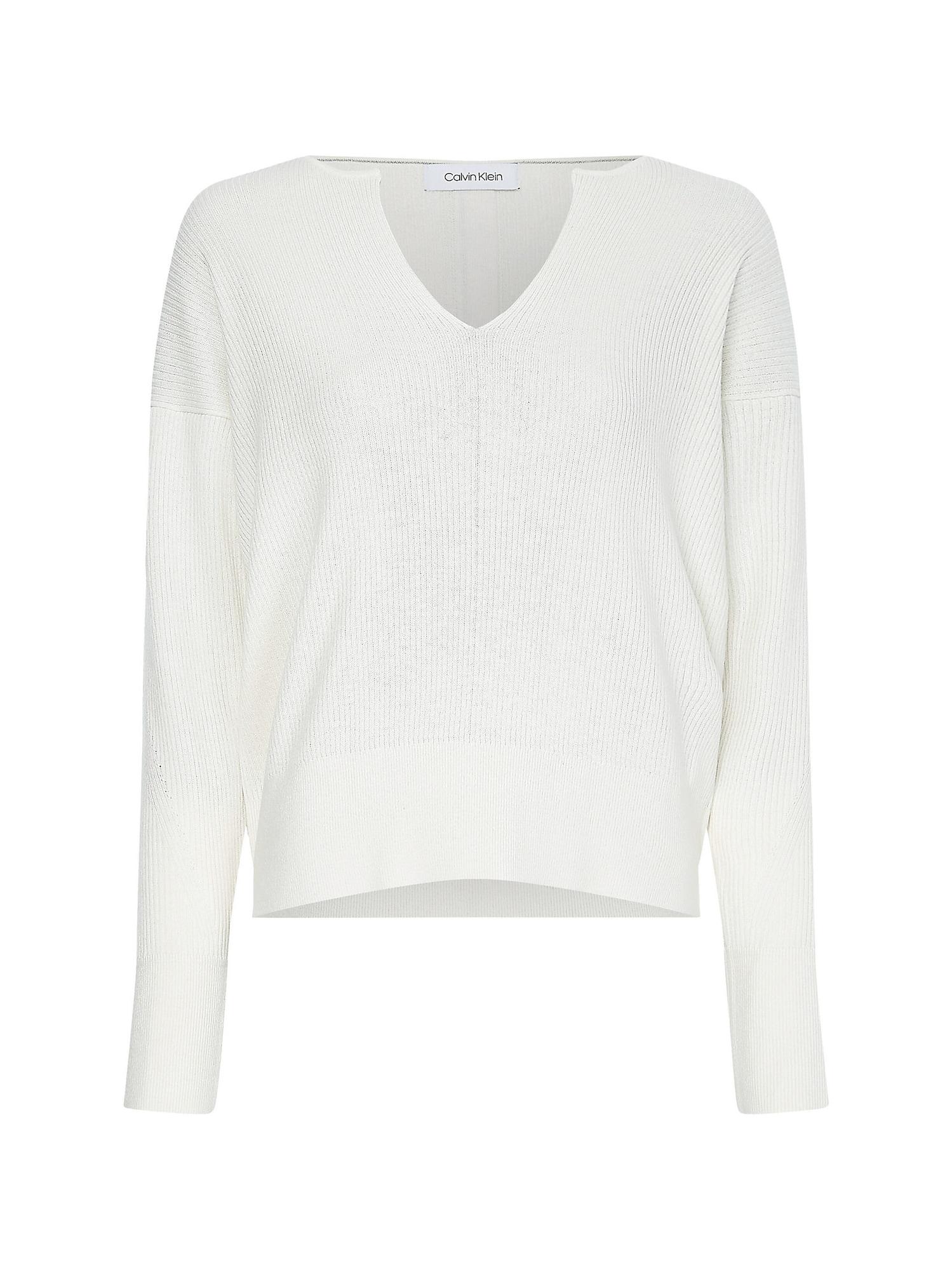 Calvin Klein Megztinis kremo / juoda