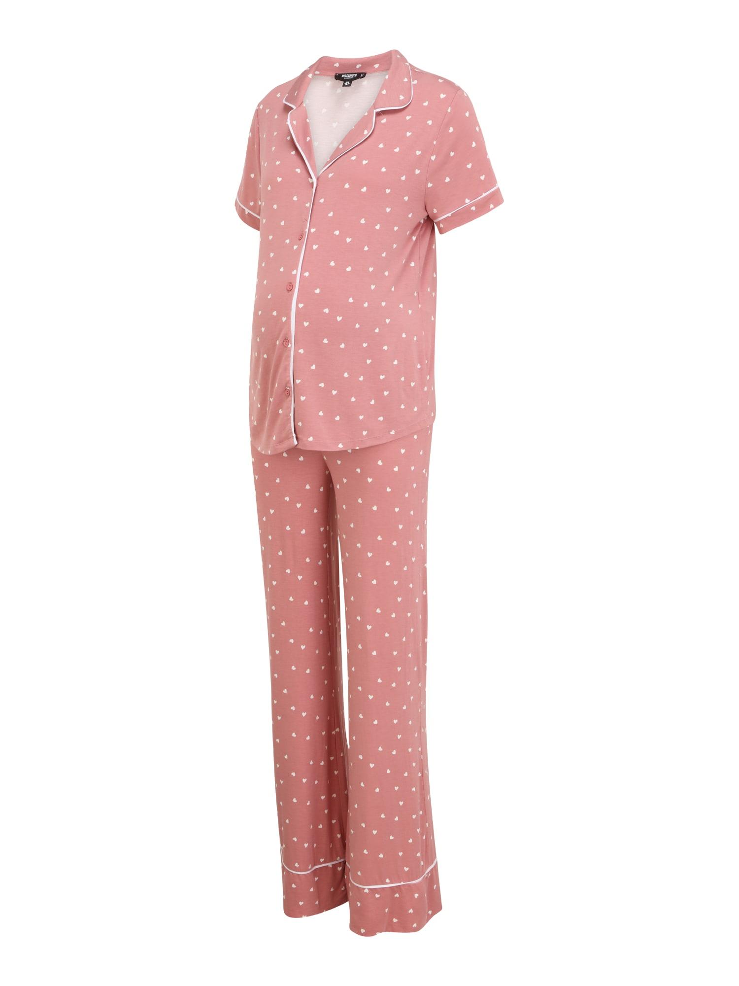 Missguided Maternity Pižama rožių spalva / balta